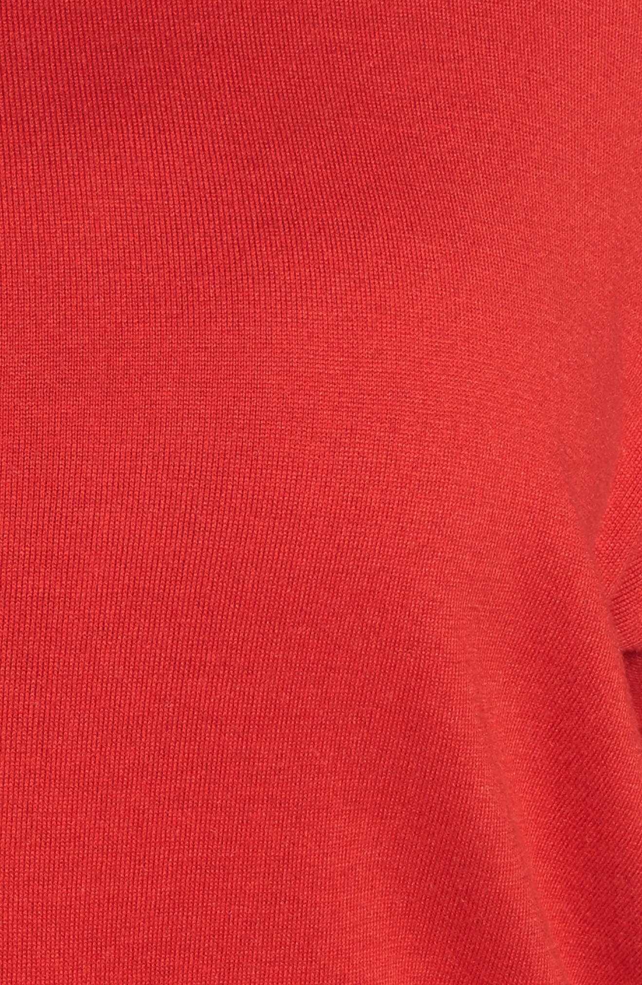 Dolman Sleeve Sweater,                             Alternate thumbnail 5, color,                             Red Samba