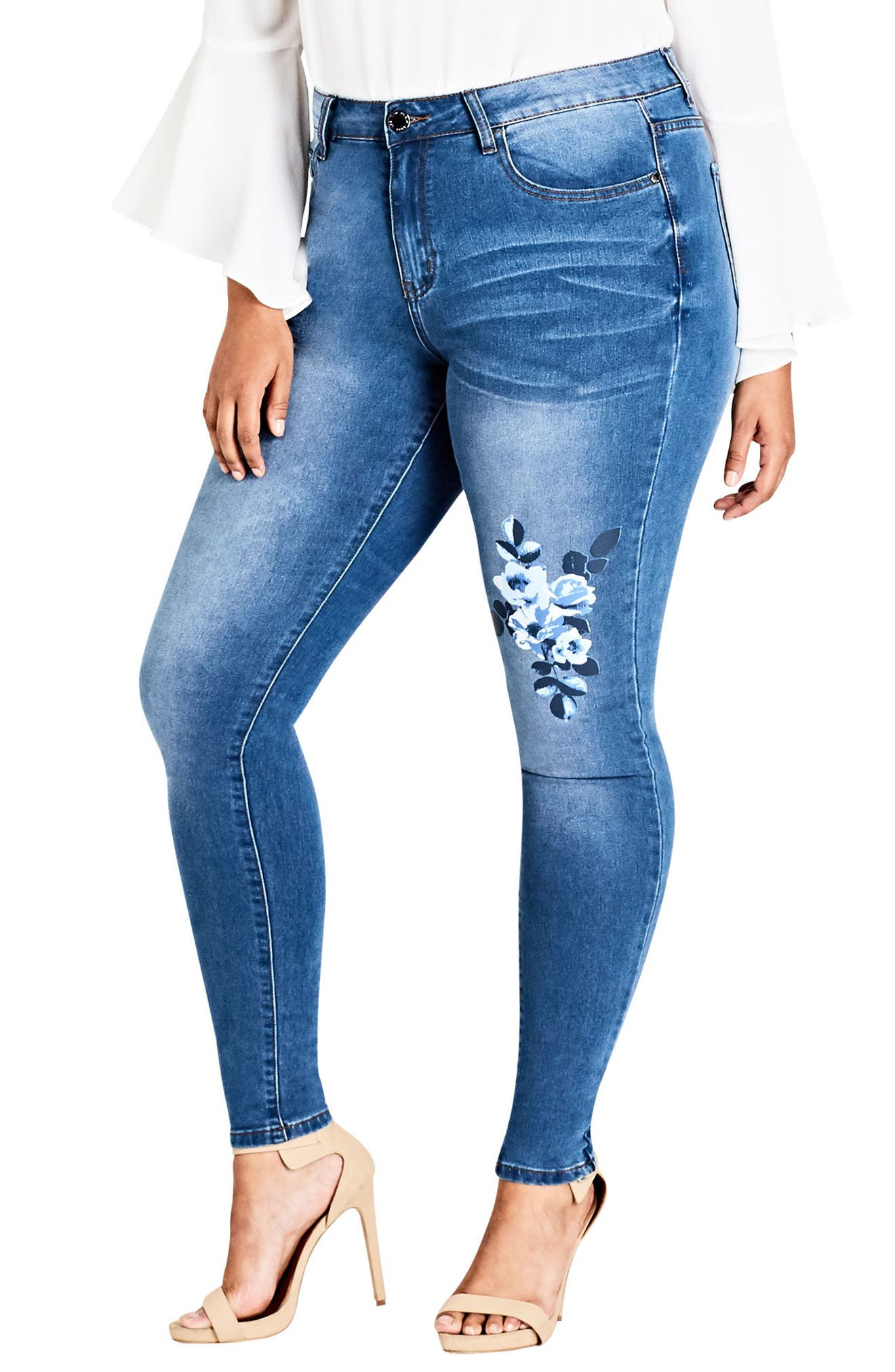 Alternate Image 1 Selected - City Chic Harley Posey Skinny Jeans (Plus Size)