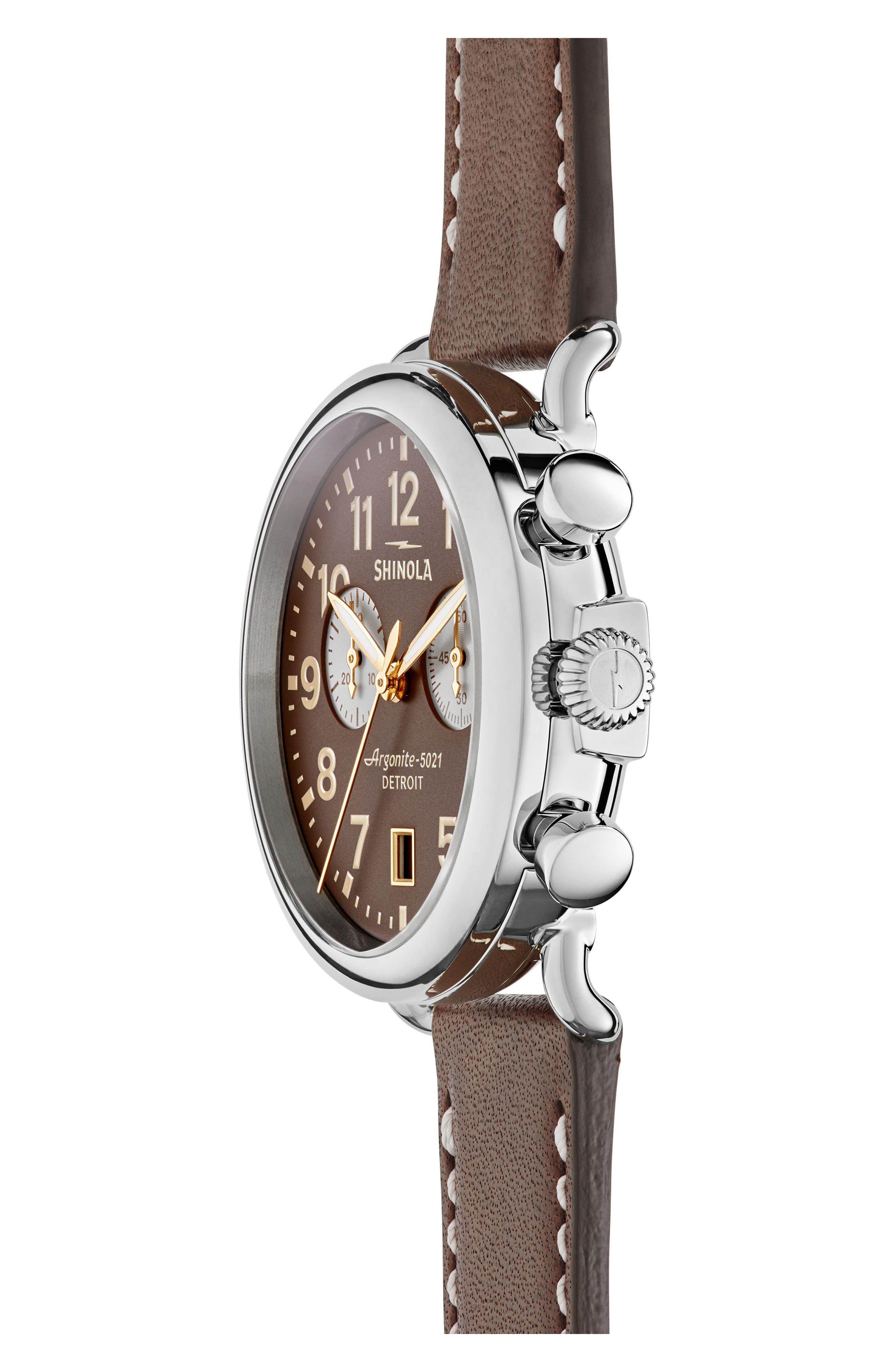 Alternate Image 3  - Shinola 'The Runwell Chrono' Leather Strap Watch, 41mm