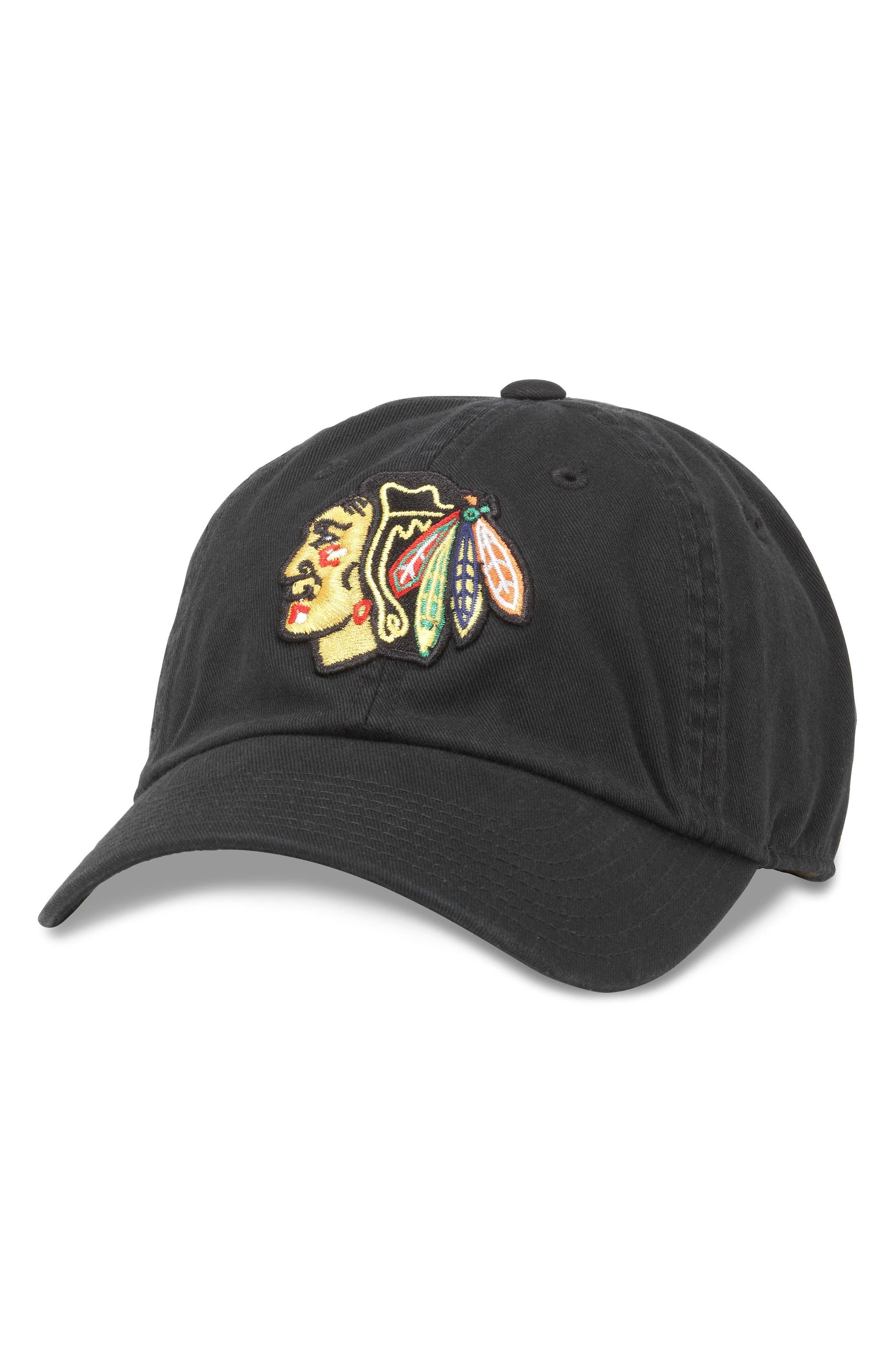 AMERICAN NEEDLE Blue Line Chicago Blackhawks Baseball Hat