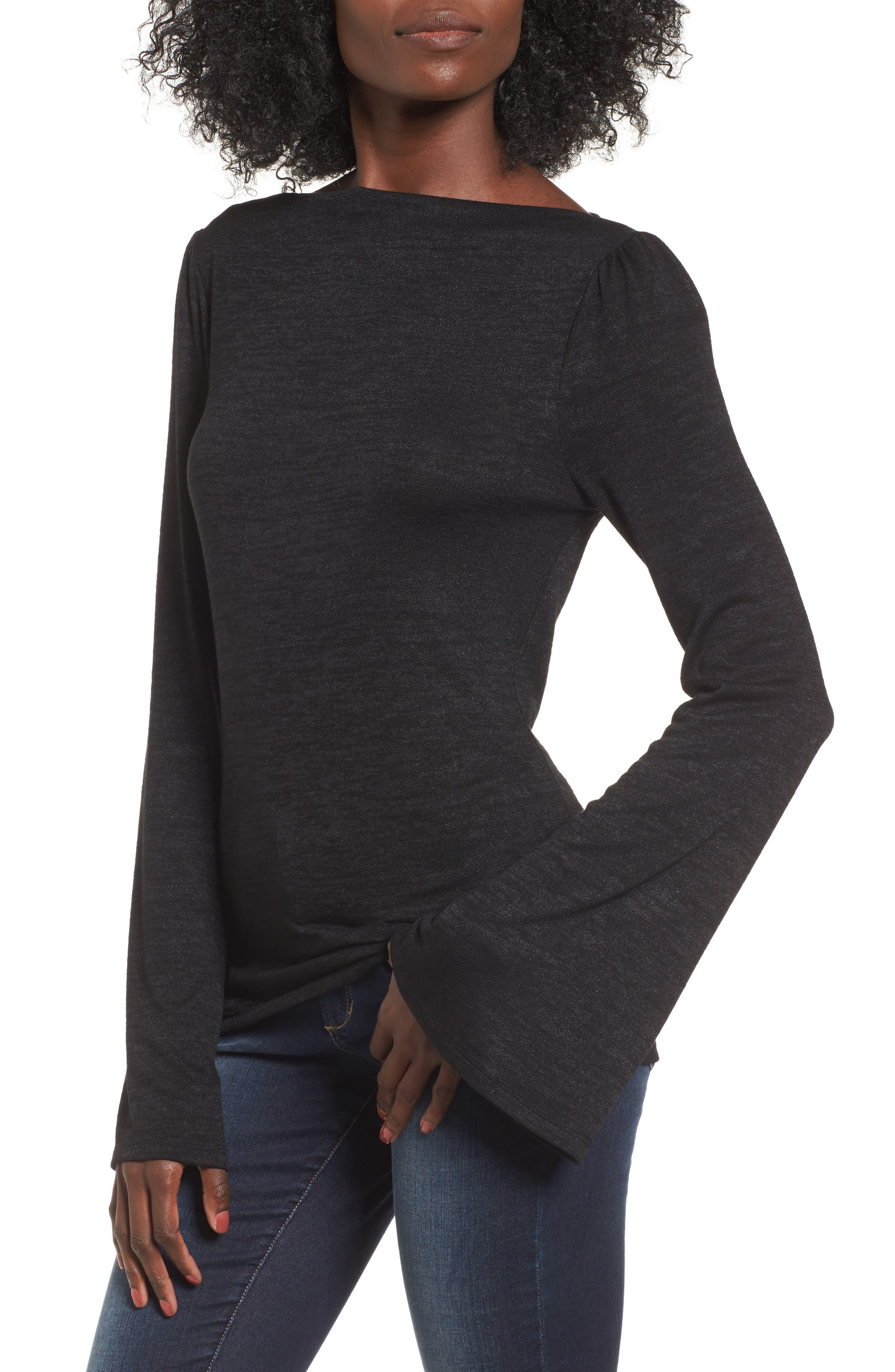 Alternate Image 1 Selected - Leith Slim Bell Sleeve Tee