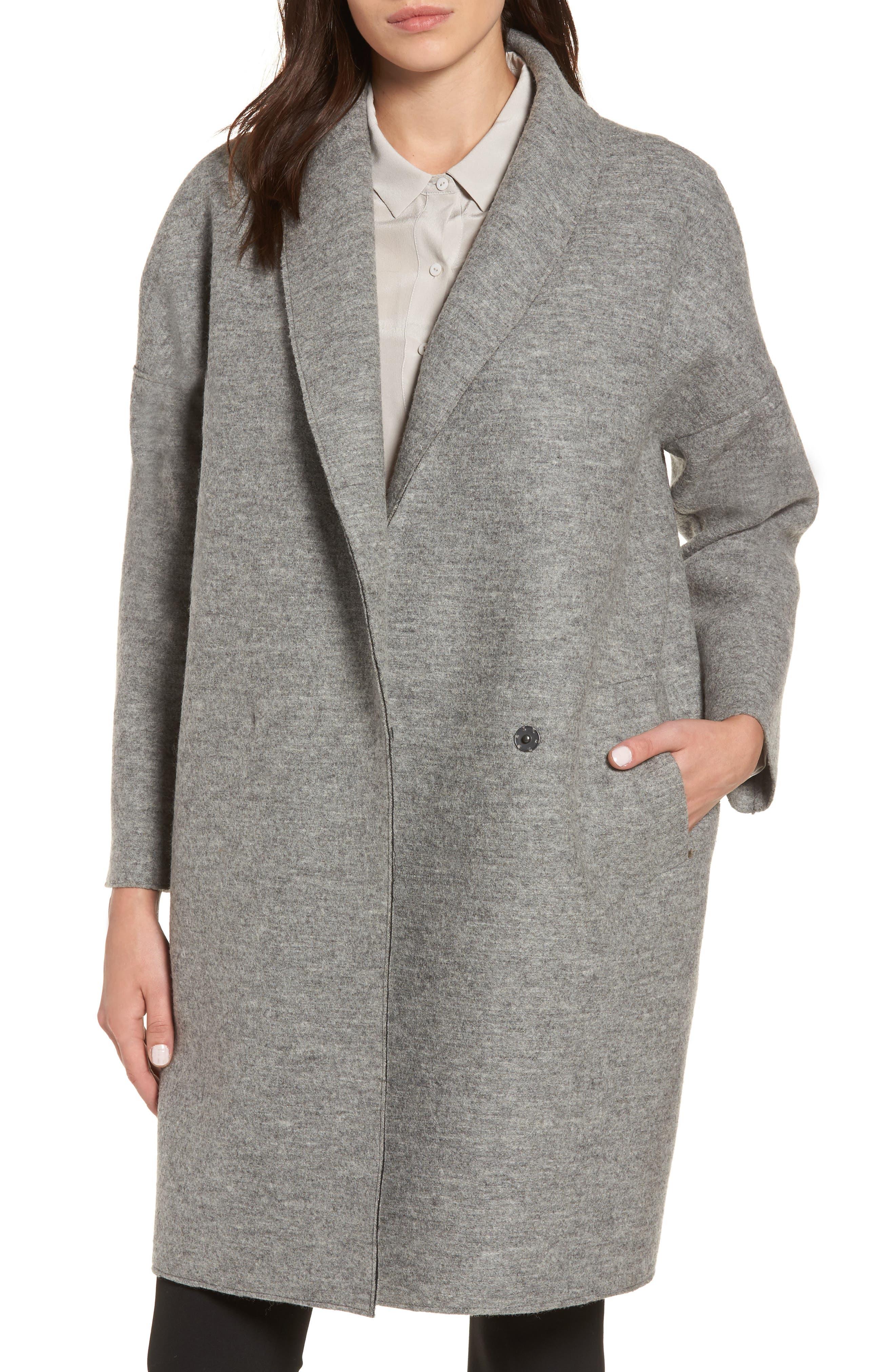 Emma Boiled Wool Coat,                         Main,                         color, Ash Grey