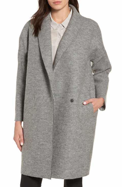 Women's Grey Wool & Wool-Blend Coats | Nordstrom