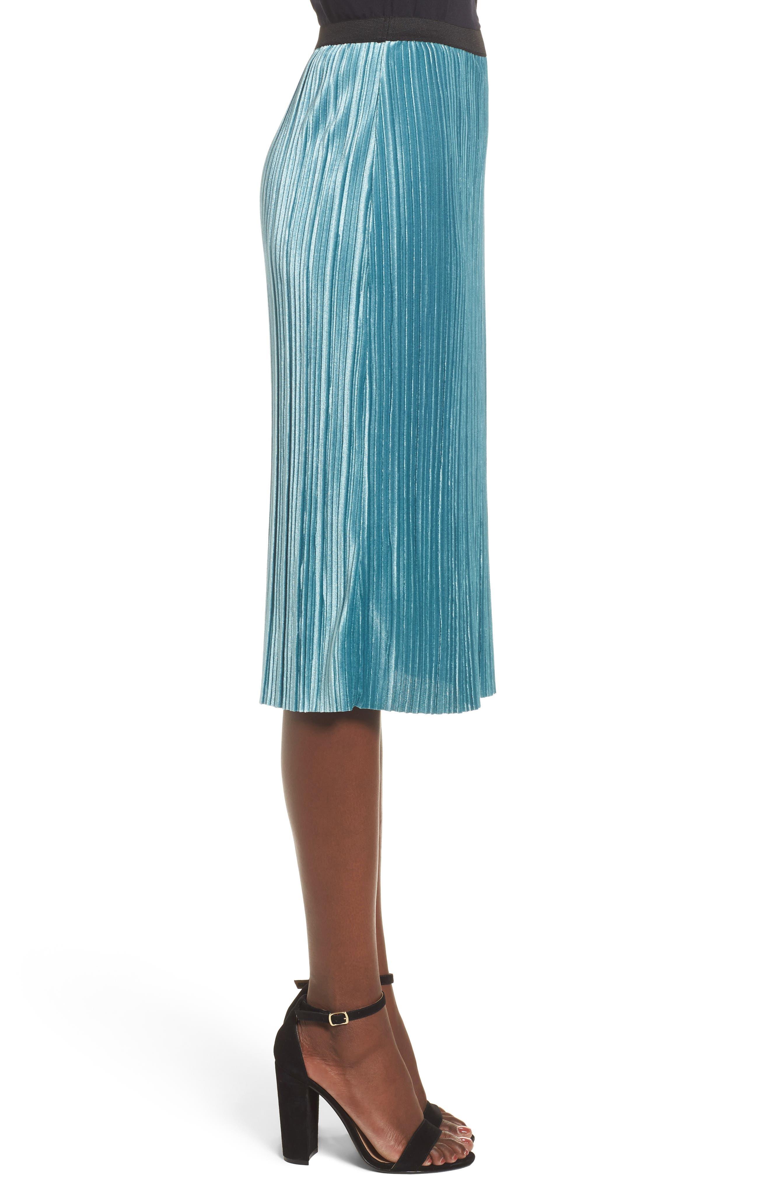 Alternate Image 3  - Leith Velour Pencil Skirt