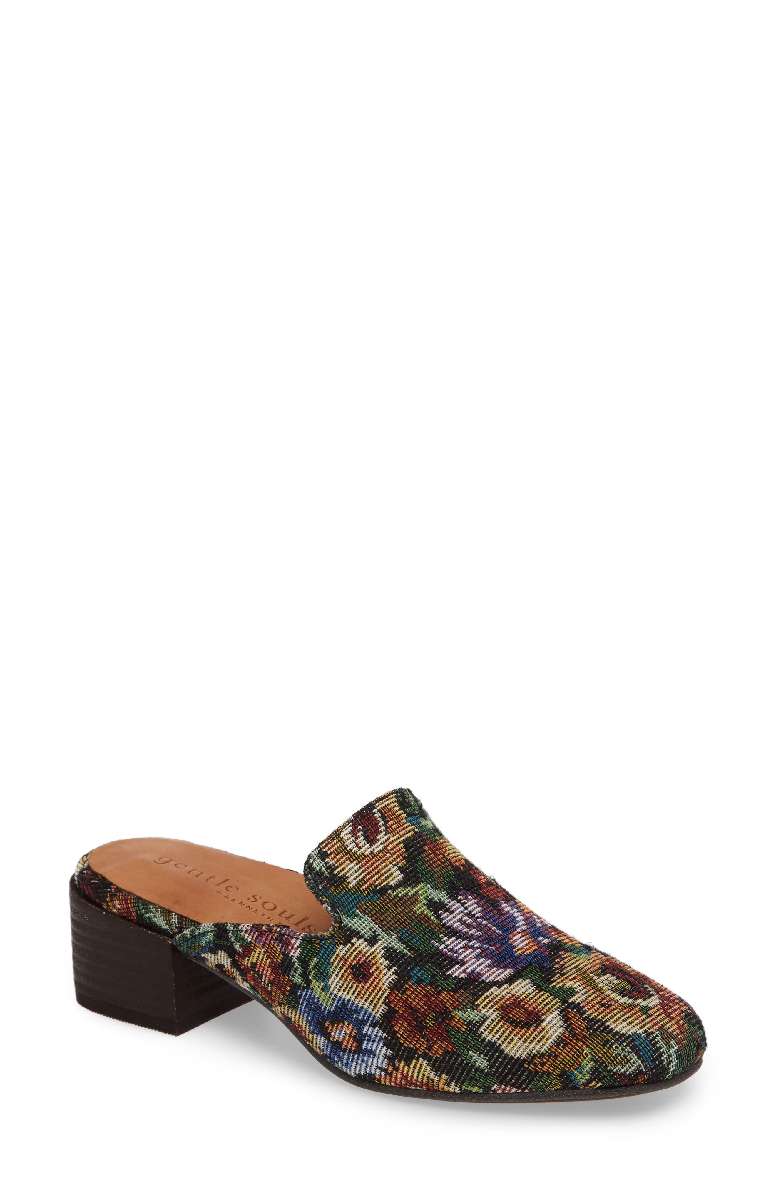 Eida Loafer Mule,                         Main,                         color, Floral Fabric