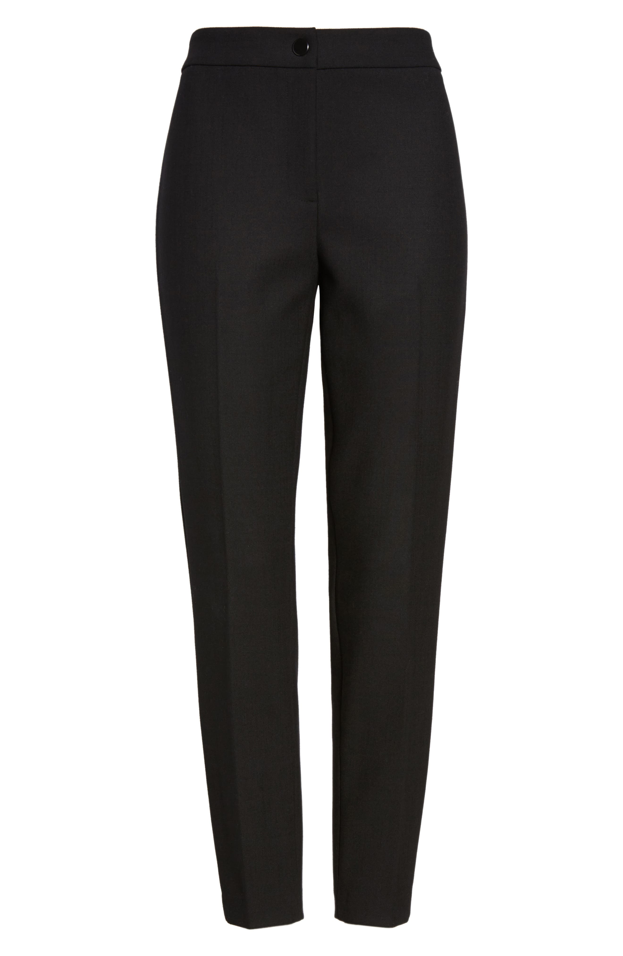 Removable Stirrup Pants,                             Alternate thumbnail 7, color,                             Black