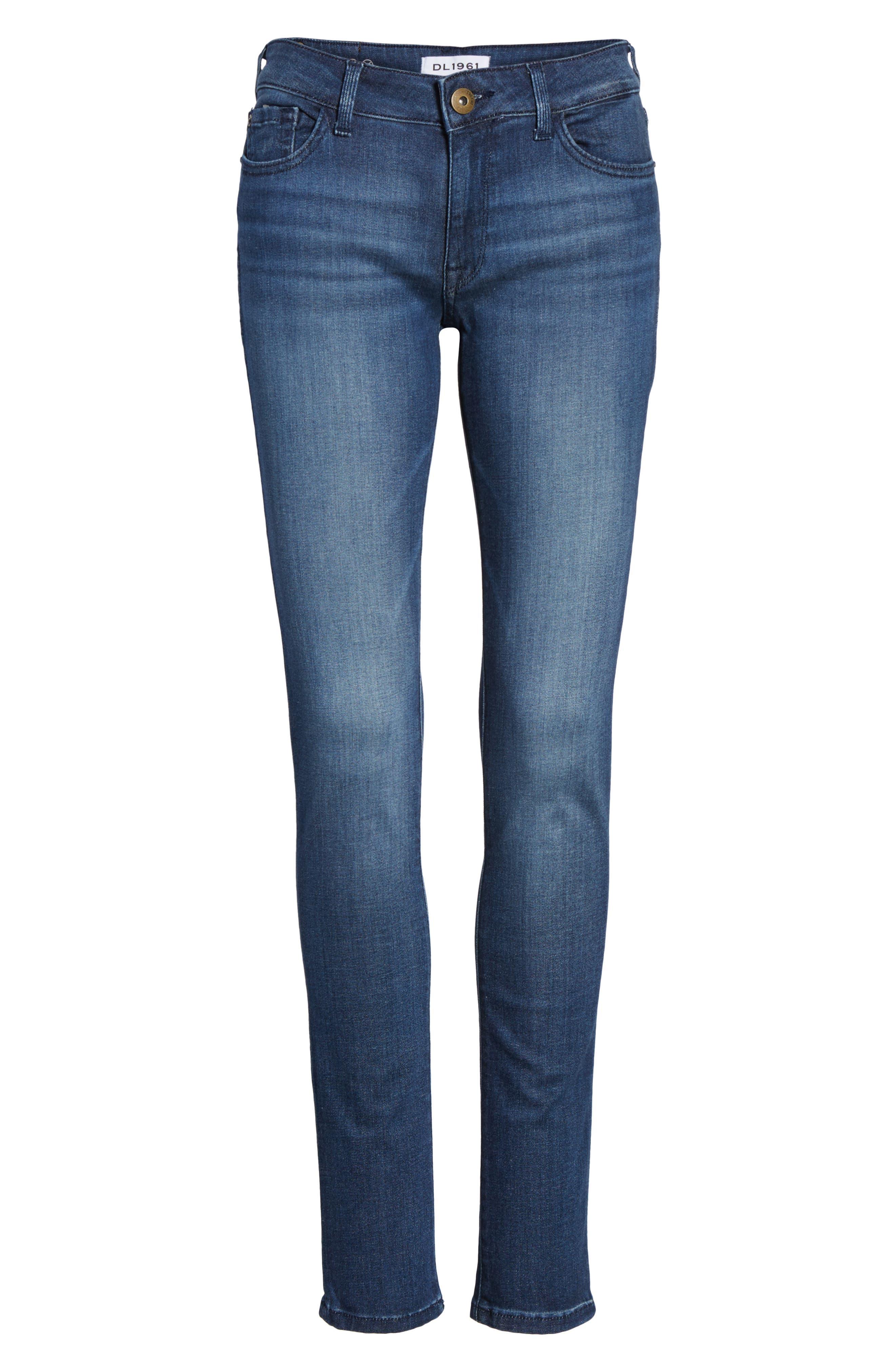 Amanda Skinny Jeans,                             Alternate thumbnail 6, color,                             Trance