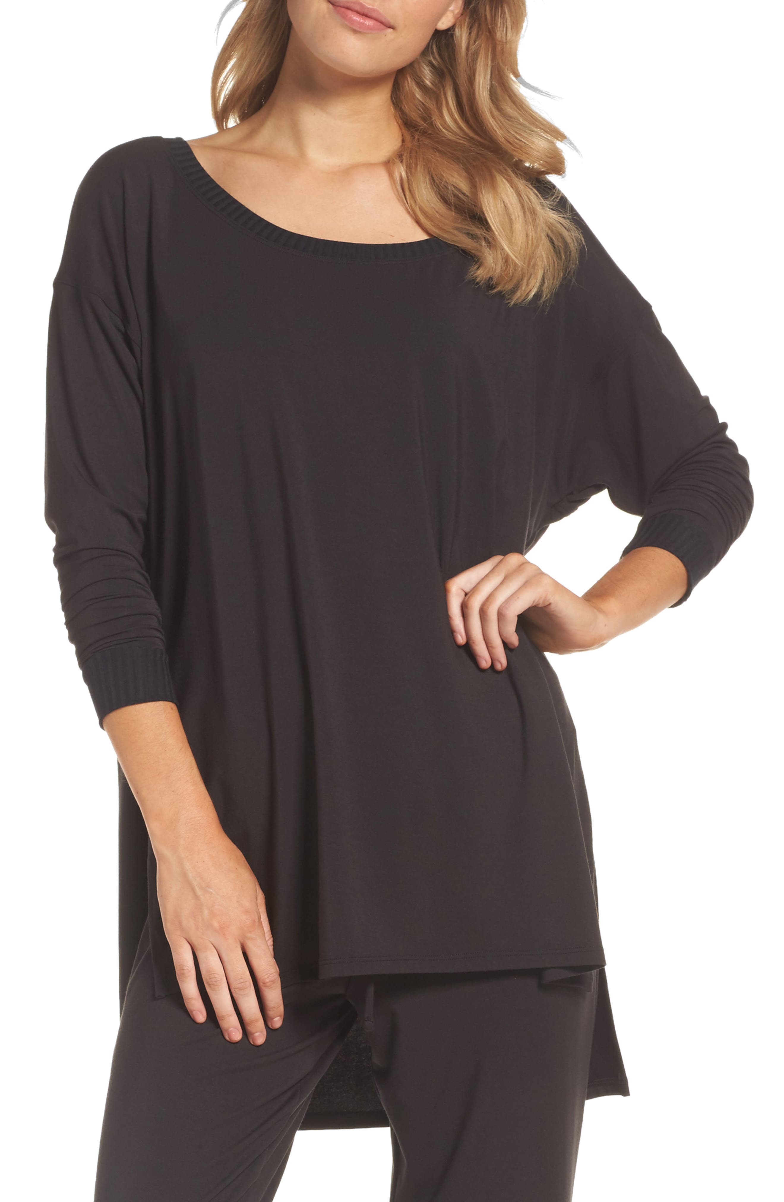 Chelsea High/Low Tee,                         Main,                         color, Black