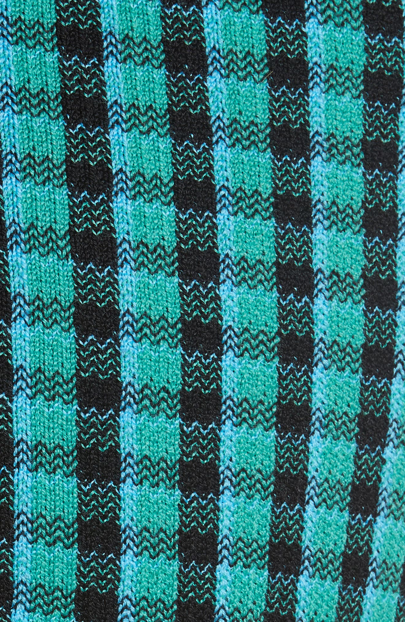 Plaid Stretch Wool Knit Pants,                             Alternate thumbnail 3, color,                             Green/ Blue