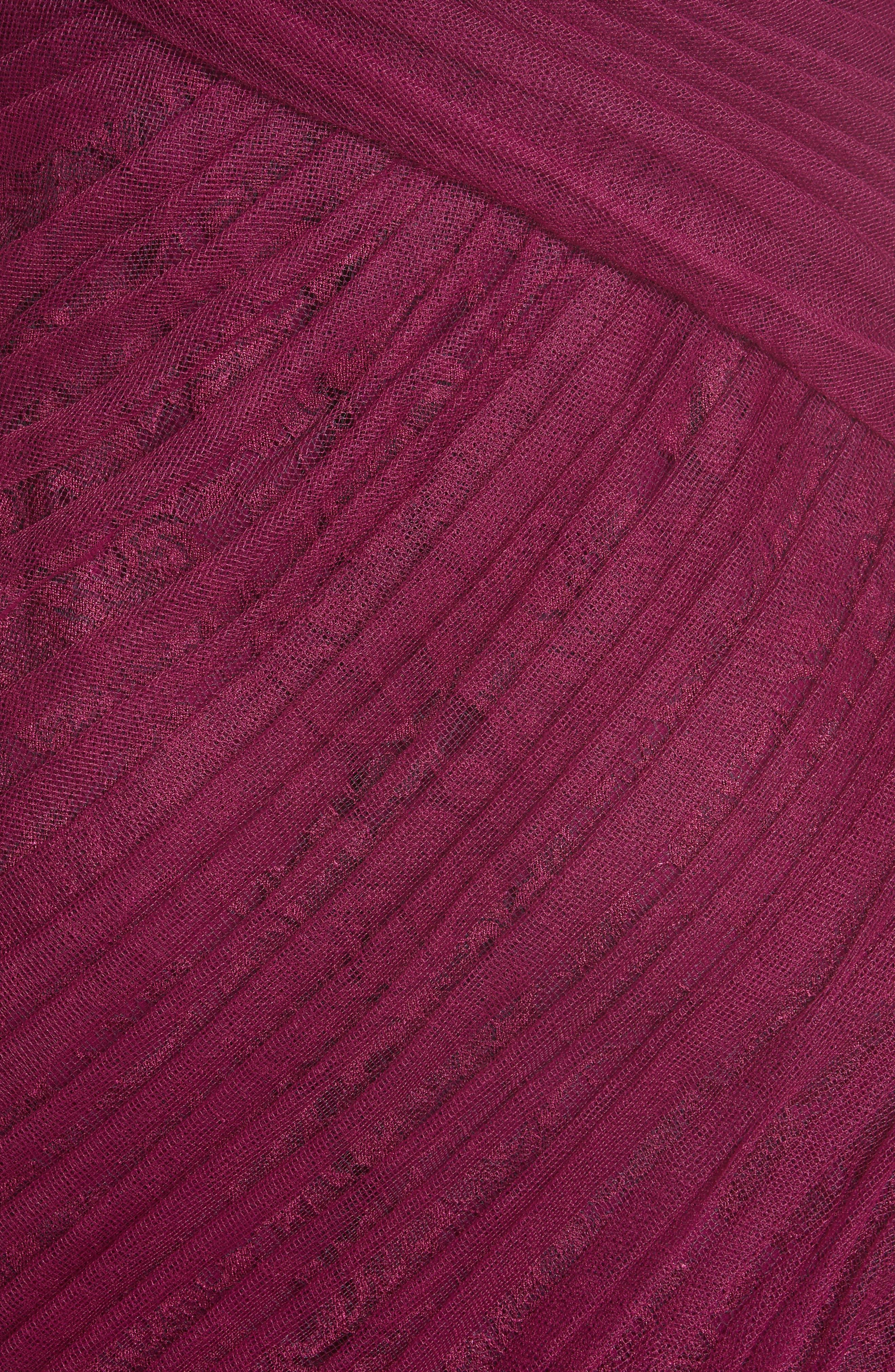 Alternate Image 3  - Monique Lhuillier Draped Tulle & Lace Gown