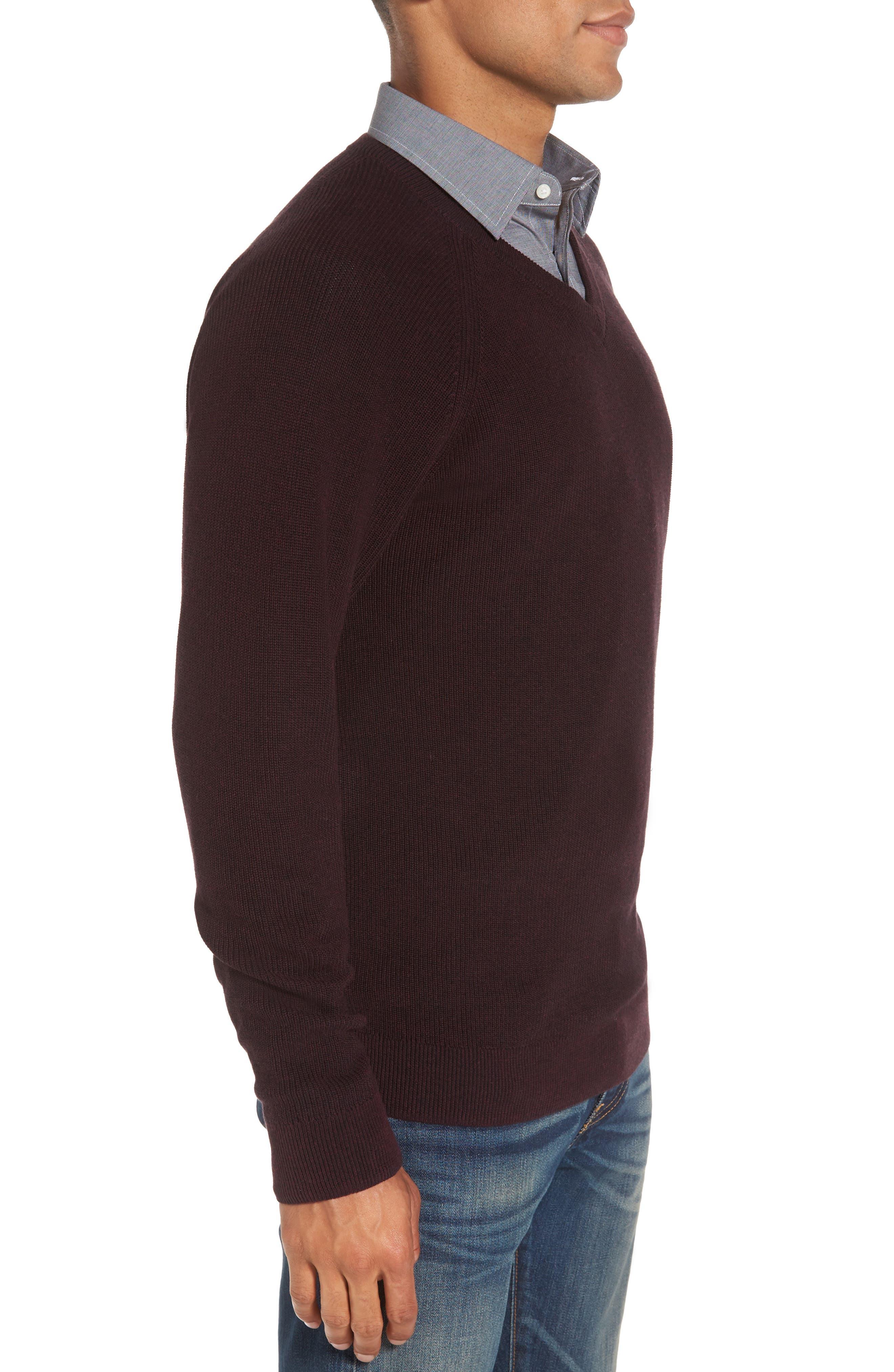 Alternate Image 3  - Nordstrom Men's Shop Supima® Cotton V-Neck Sweater