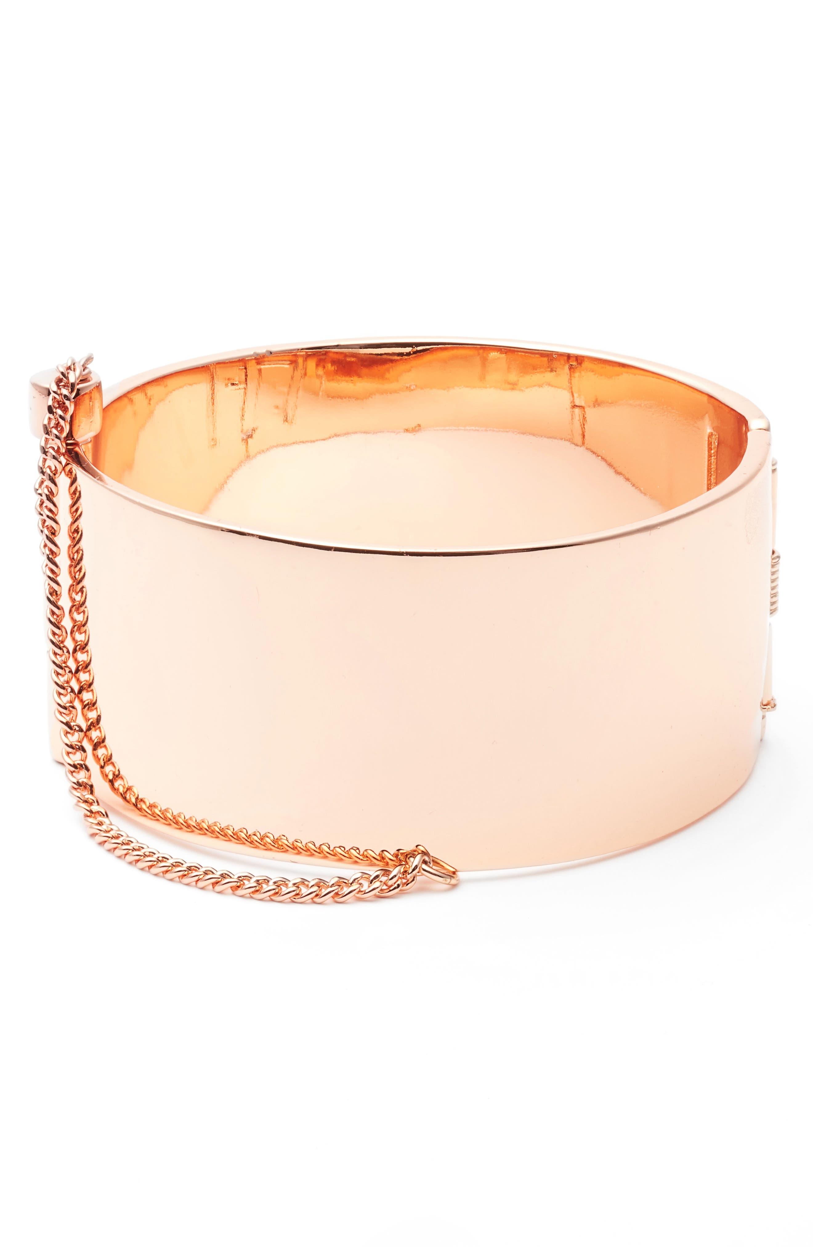 Rebecca Minkoff Cuff with Chain Bracelet