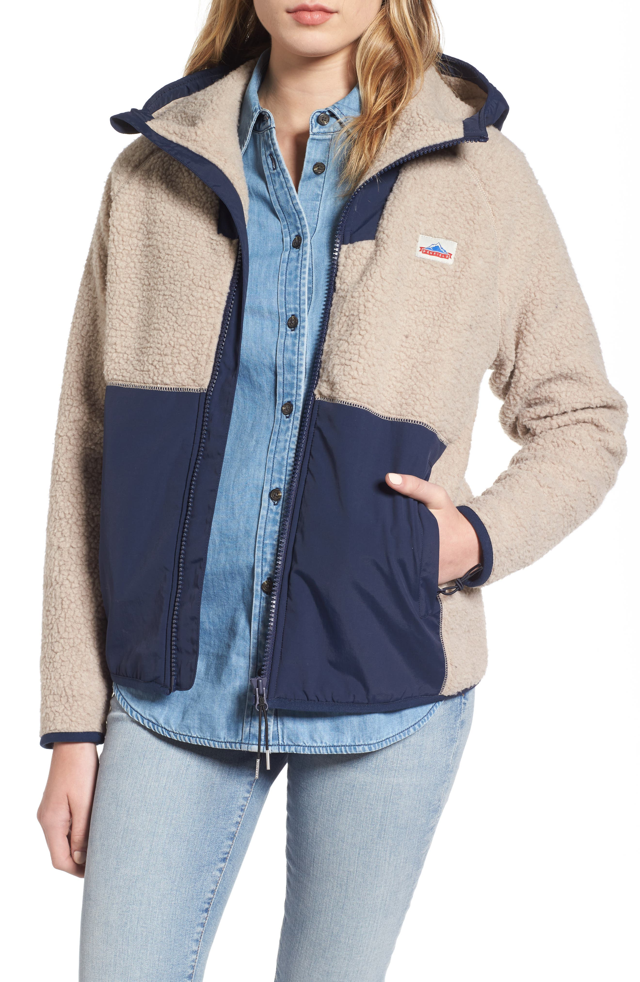 Vaughn Fleece Jacket,                         Main,                         color, Tan