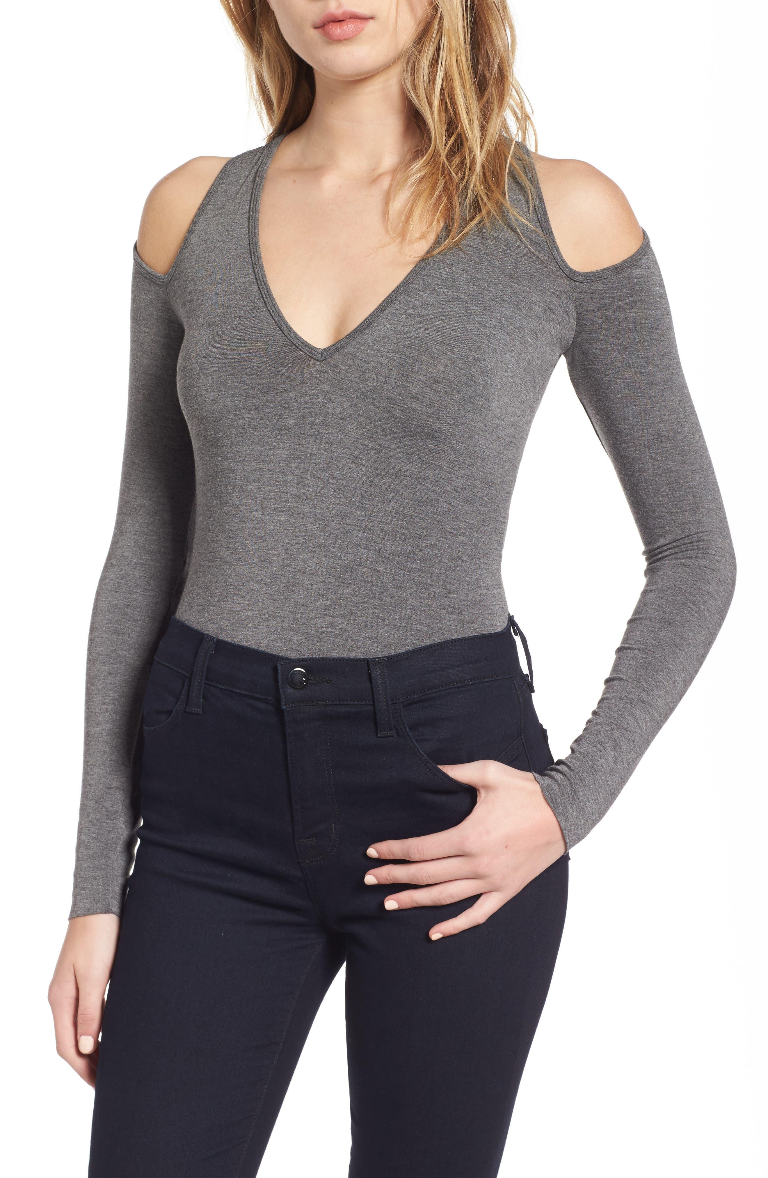 Patricia Cold Shoulder Bodysuit,                         Main,                         color, Mercury