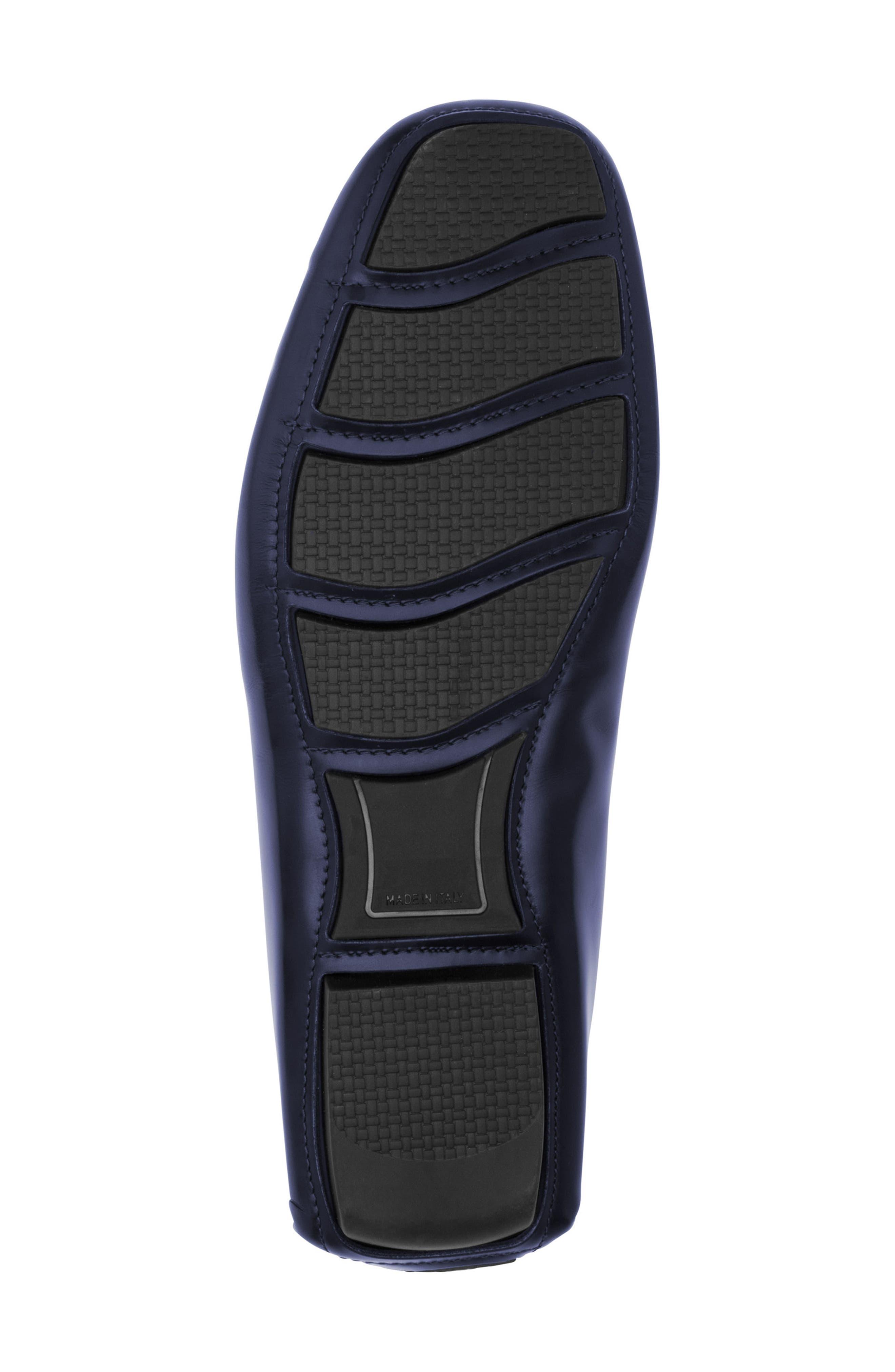 St. Tropez Driving Shoe,                             Alternate thumbnail 6, color,                             Blue Leather