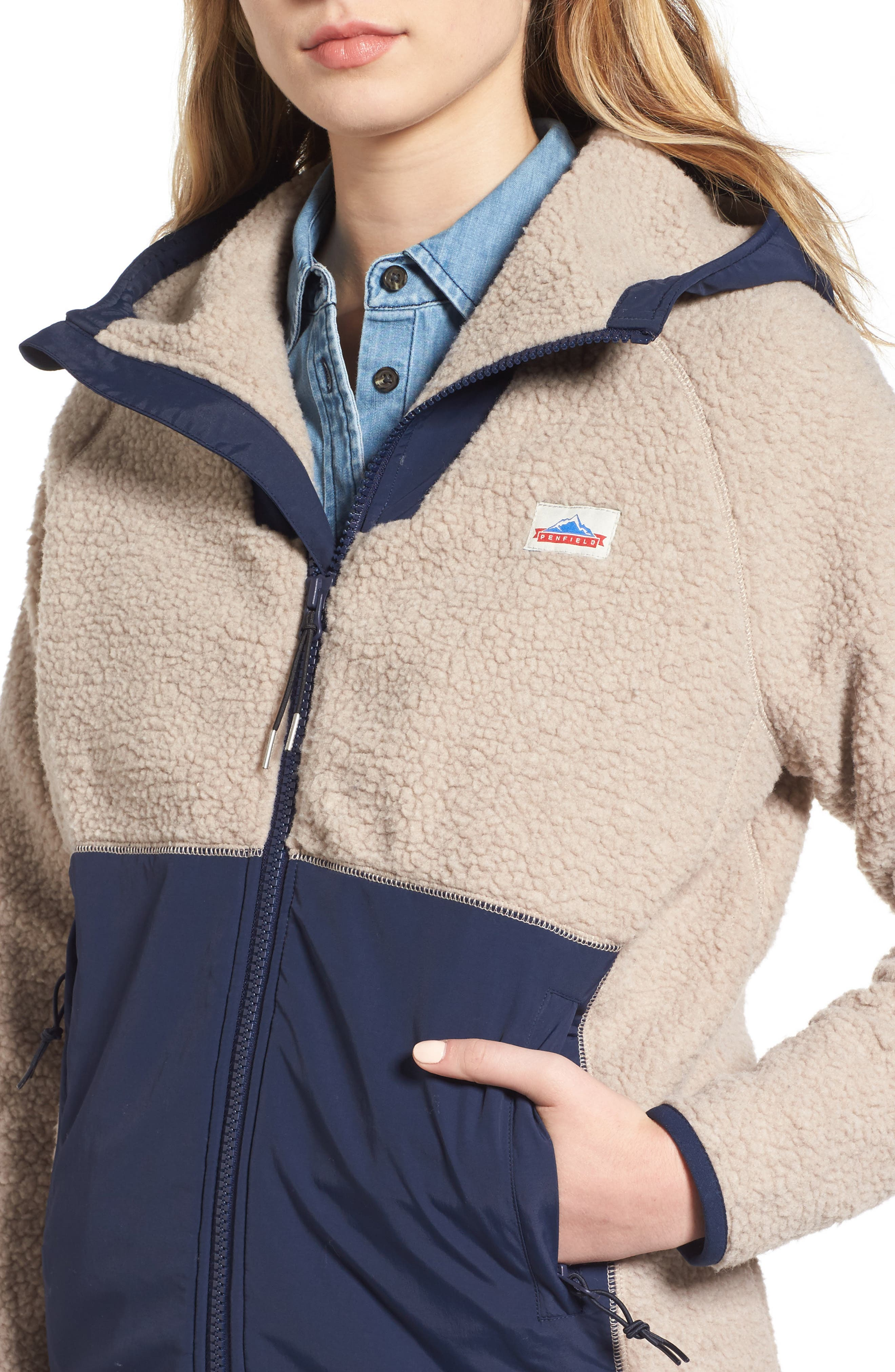 Vaughn Fleece Jacket,                             Alternate thumbnail 4, color,                             Tan