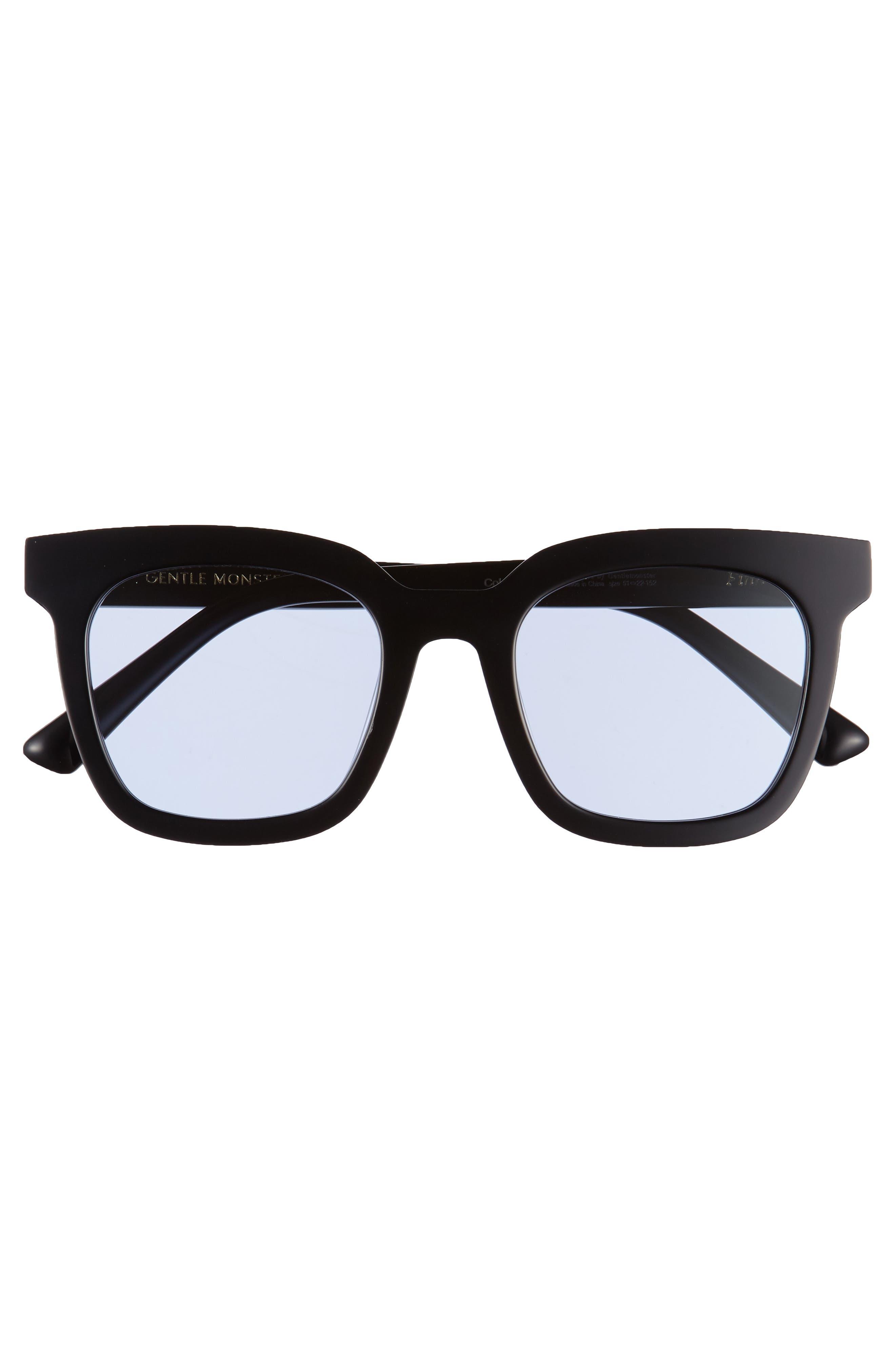 Finn 51mm Sunglasses,                             Alternate thumbnail 3, color,                             Black/ Blue
