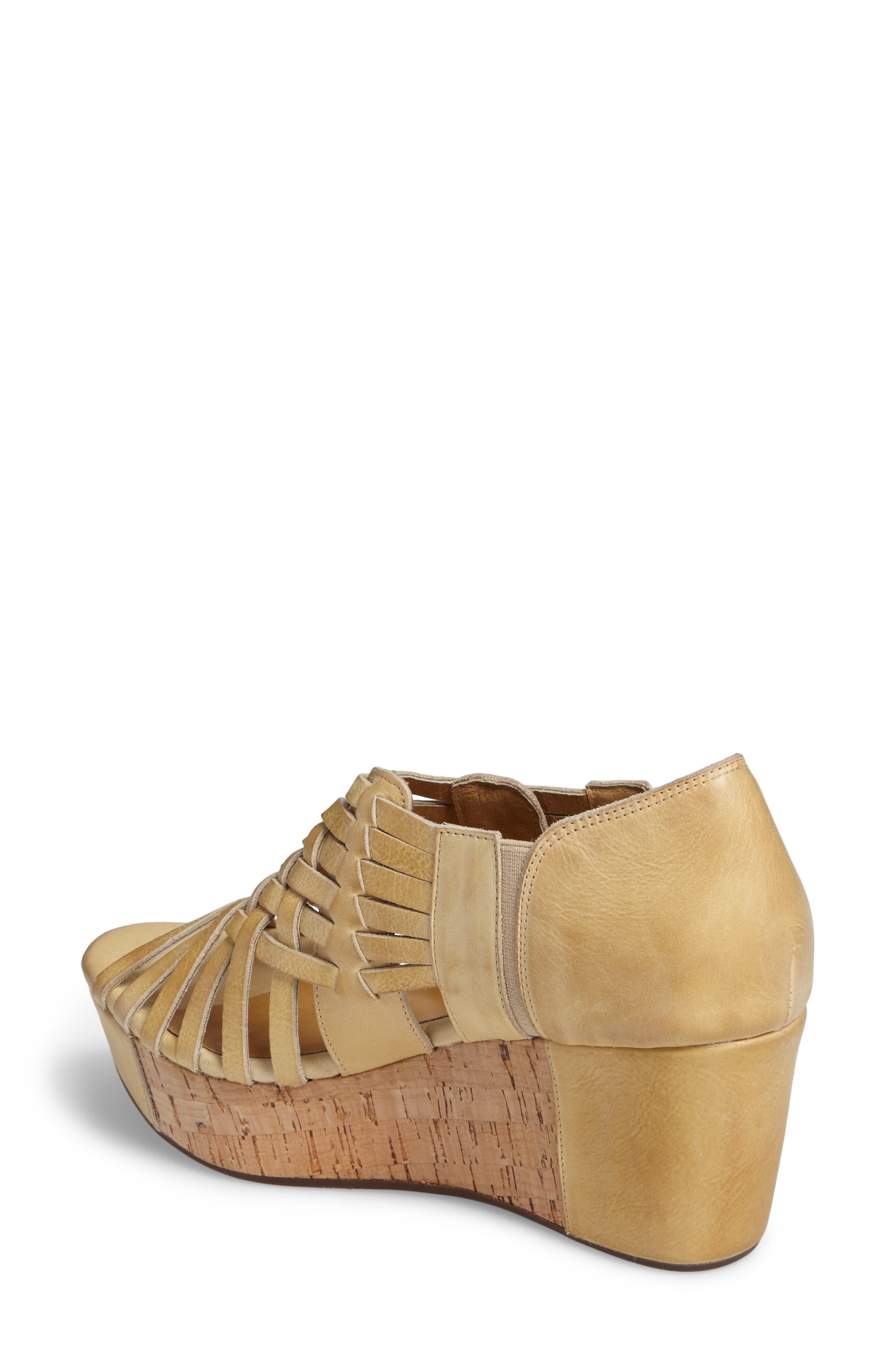 Vic Platform Sandal,                             Alternate thumbnail 2, color,                             Natural Leather