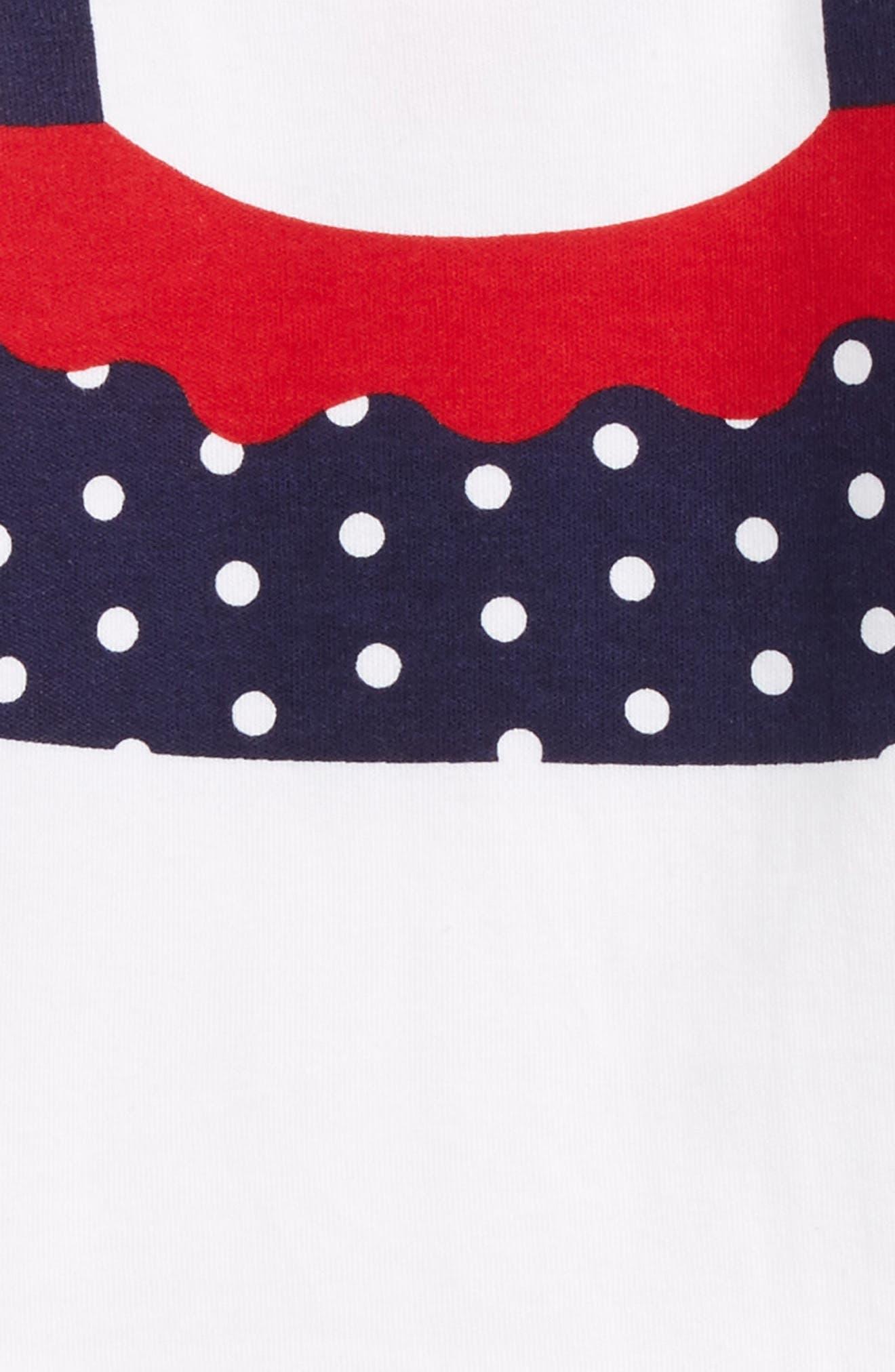 Polka Dot Bodysuit,                             Alternate thumbnail 3, color,                             White