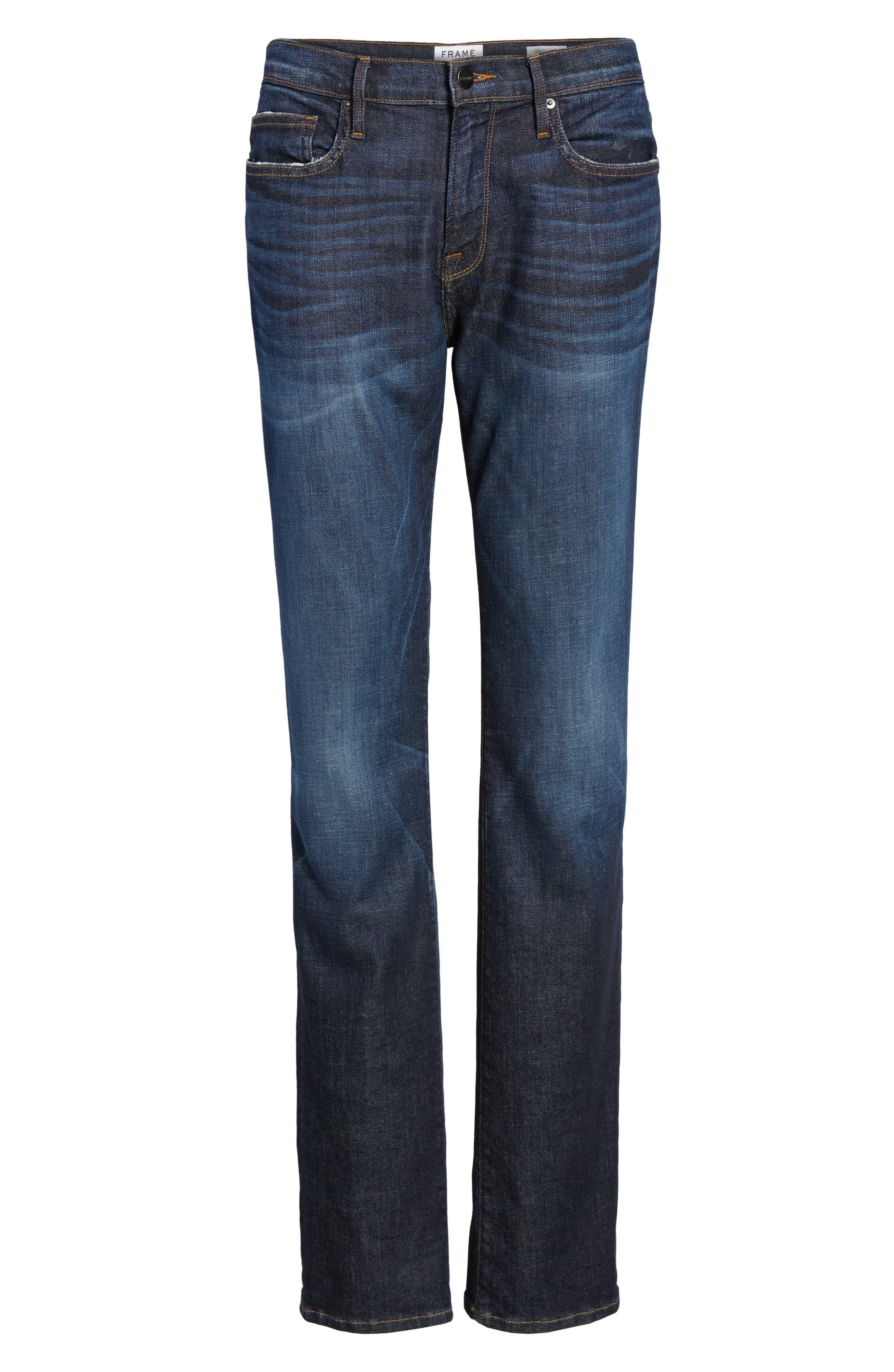 Alternate Image 6  - FRAME L'Homme Slim Straight Leg Jeans (Alamo)