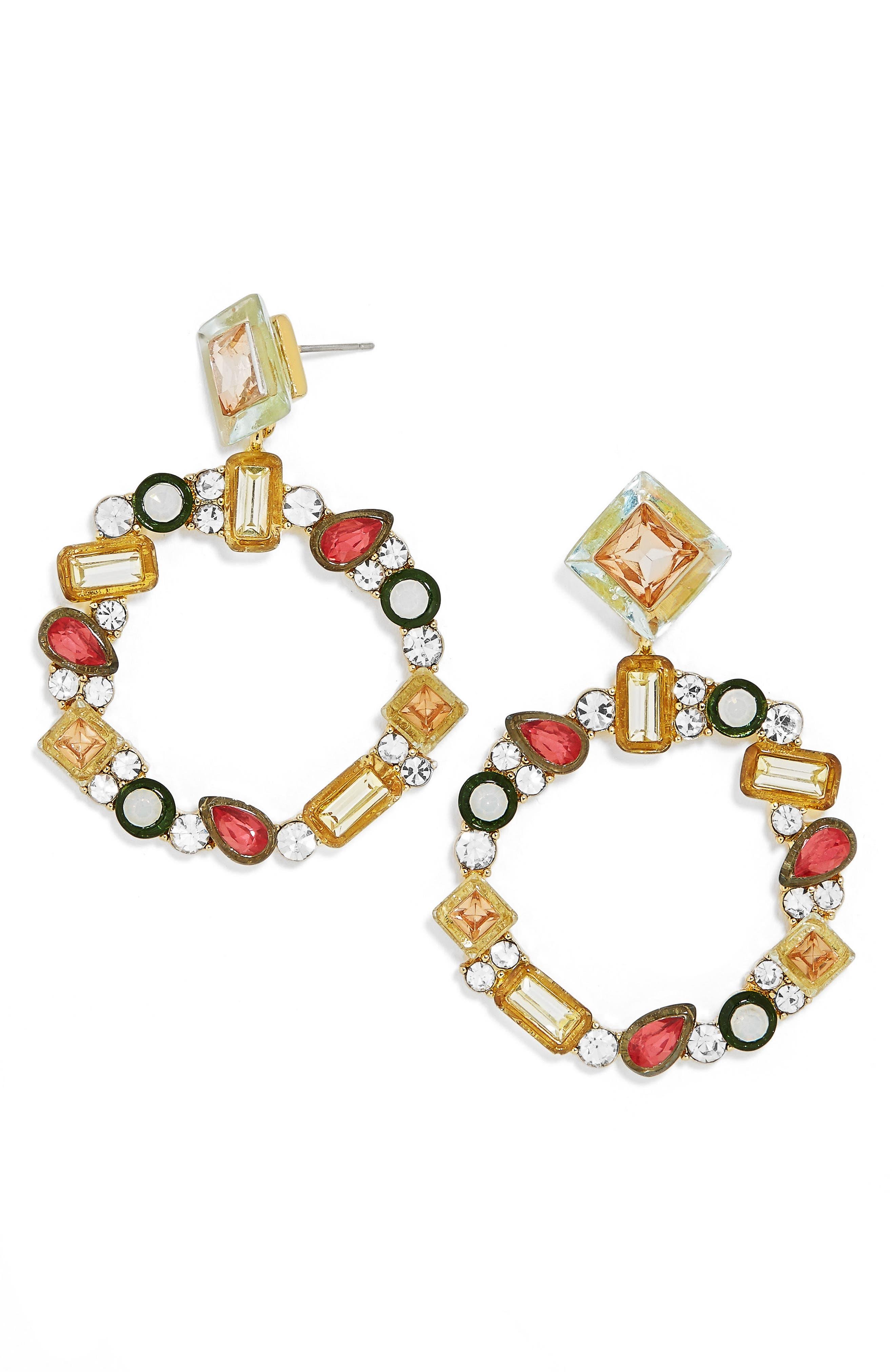 Main Image - BaubleBar Leora Hoop Earrings
