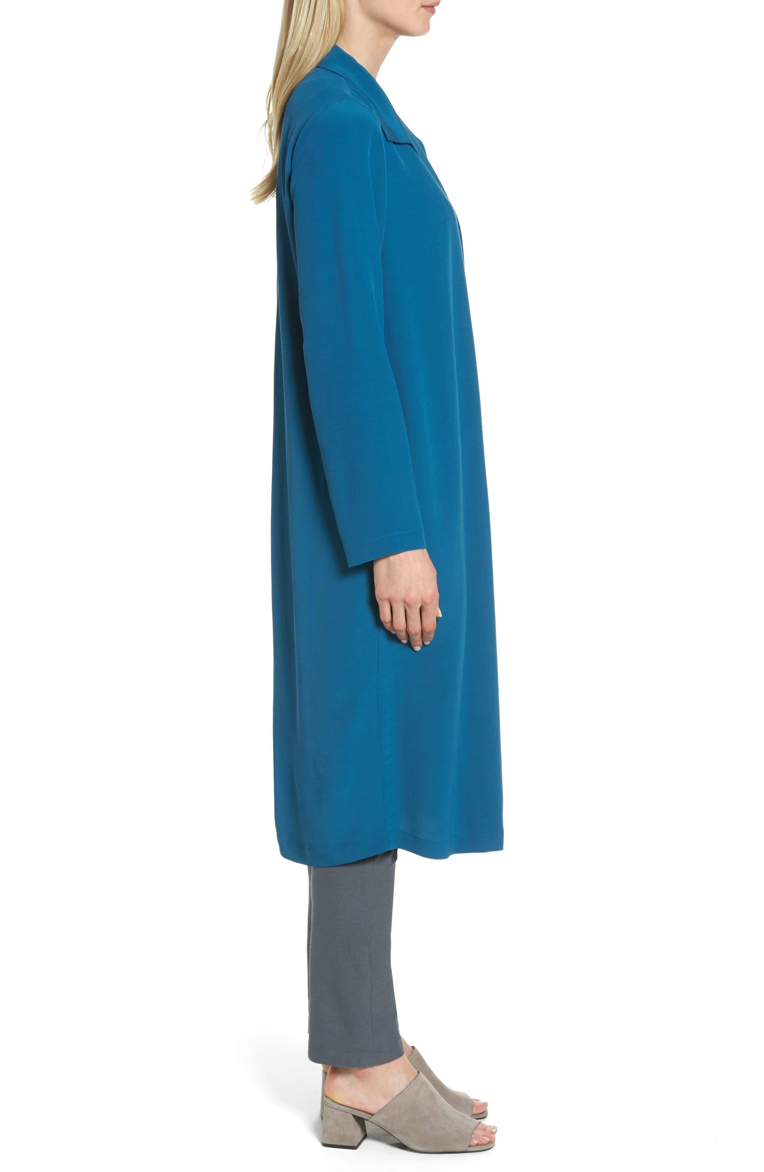 Open Front Duster Jacket,                             Alternate thumbnail 3, color,                             Nile
