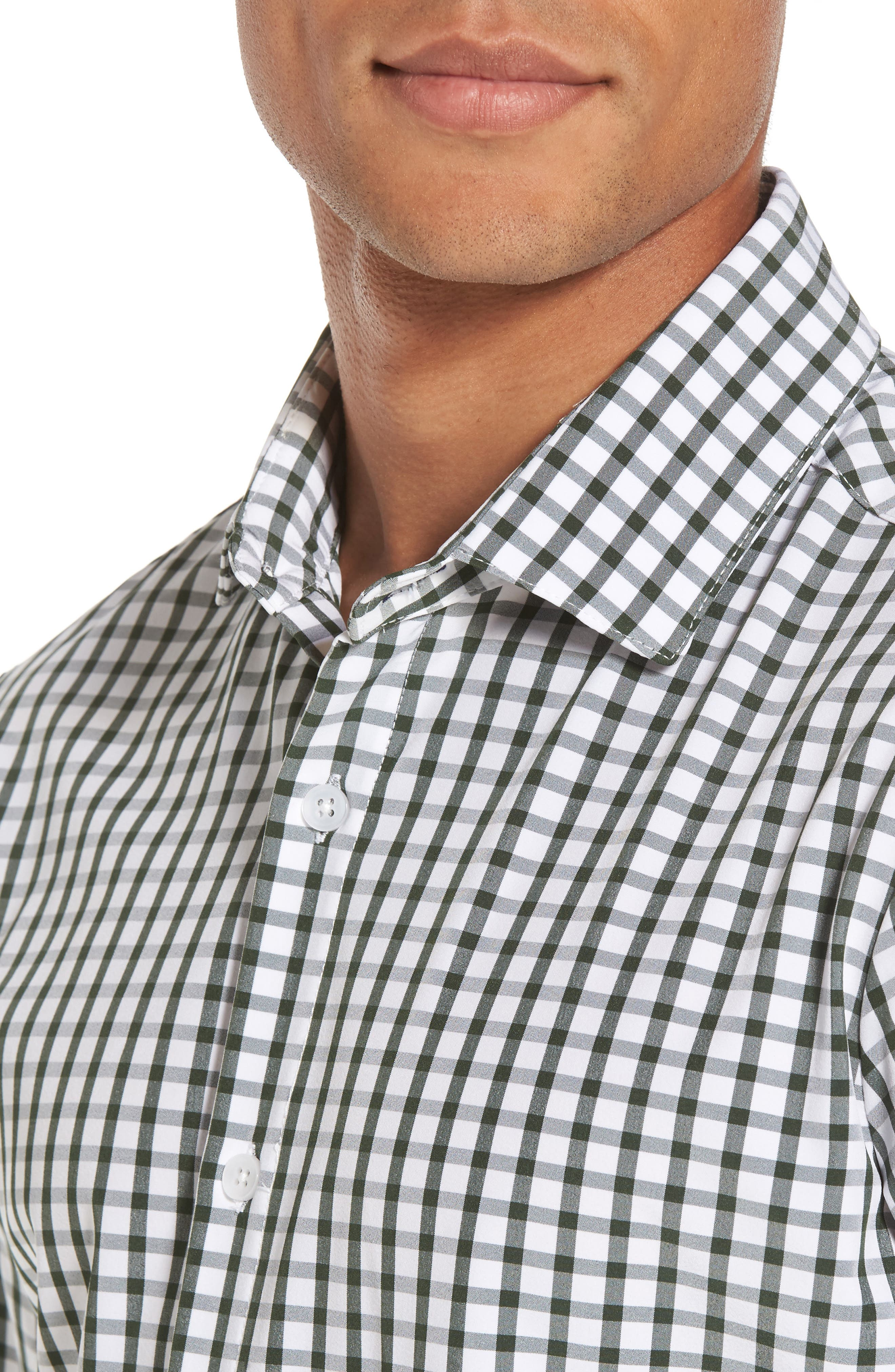 Turner Green Gingham Sport Shirt,                             Alternate thumbnail 2, color,                             Green