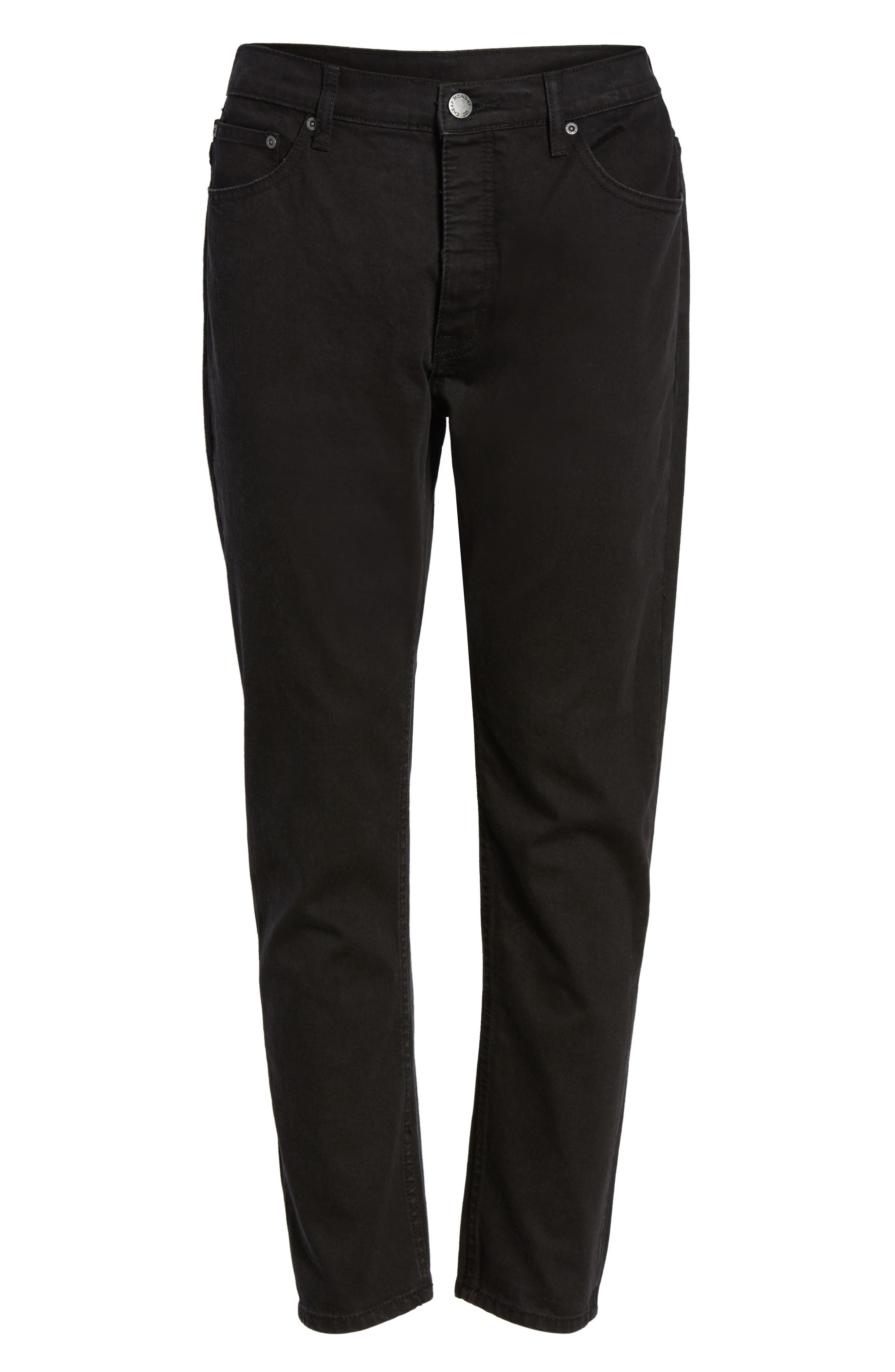 In Law Skinny Fit Jeans,                             Alternate thumbnail 6, color,                             Black