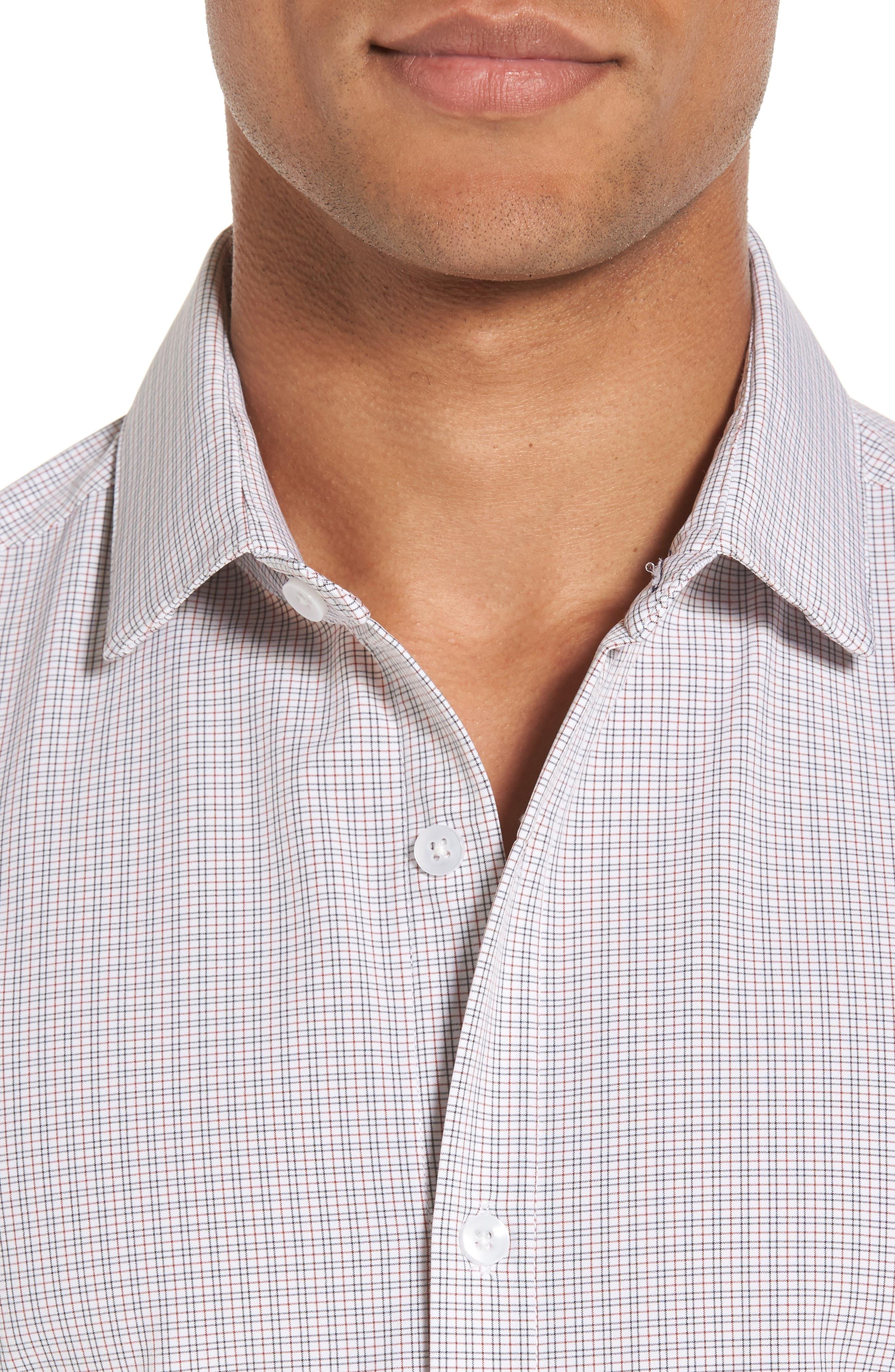Reed Granite & Burgundy Check Sport Shirt,                             Alternate thumbnail 2, color,                             Red