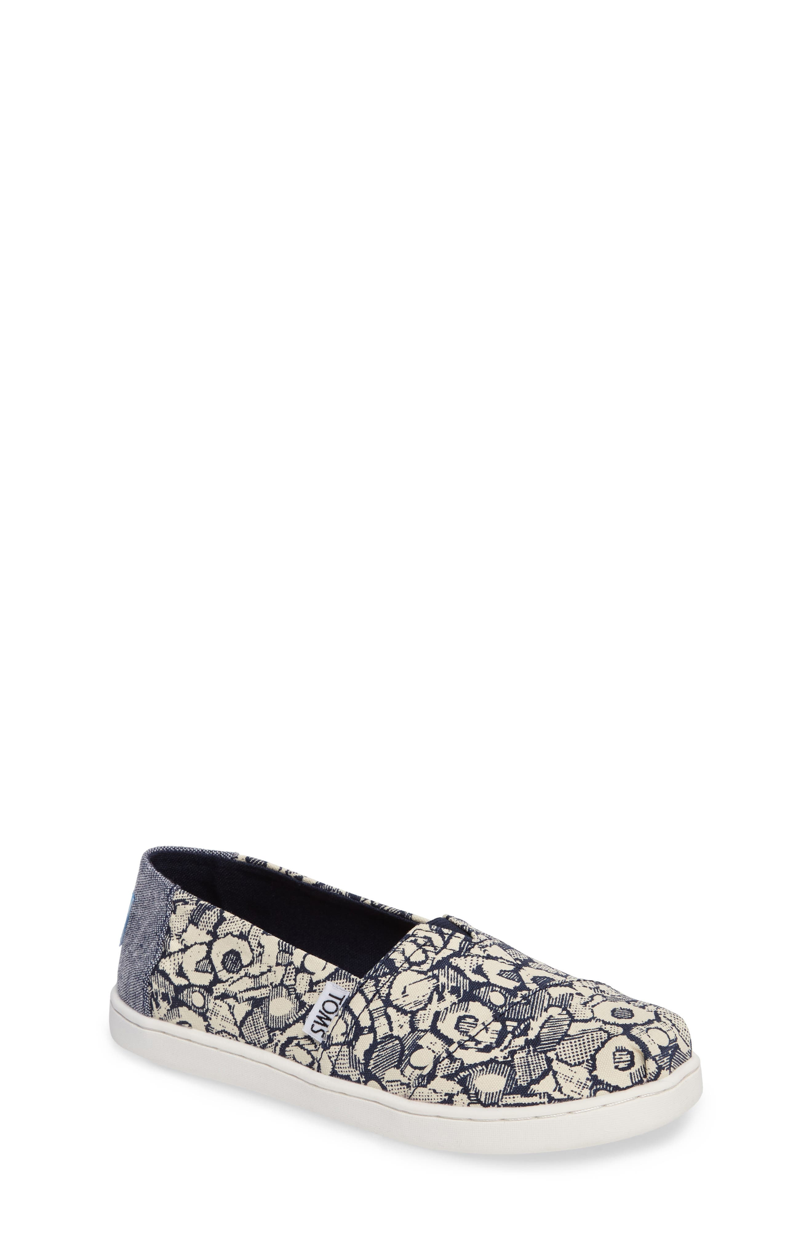 Main Image - TOMS Classic Floral Camo Slip-On (Toddler, Little Kid & Big Kid)