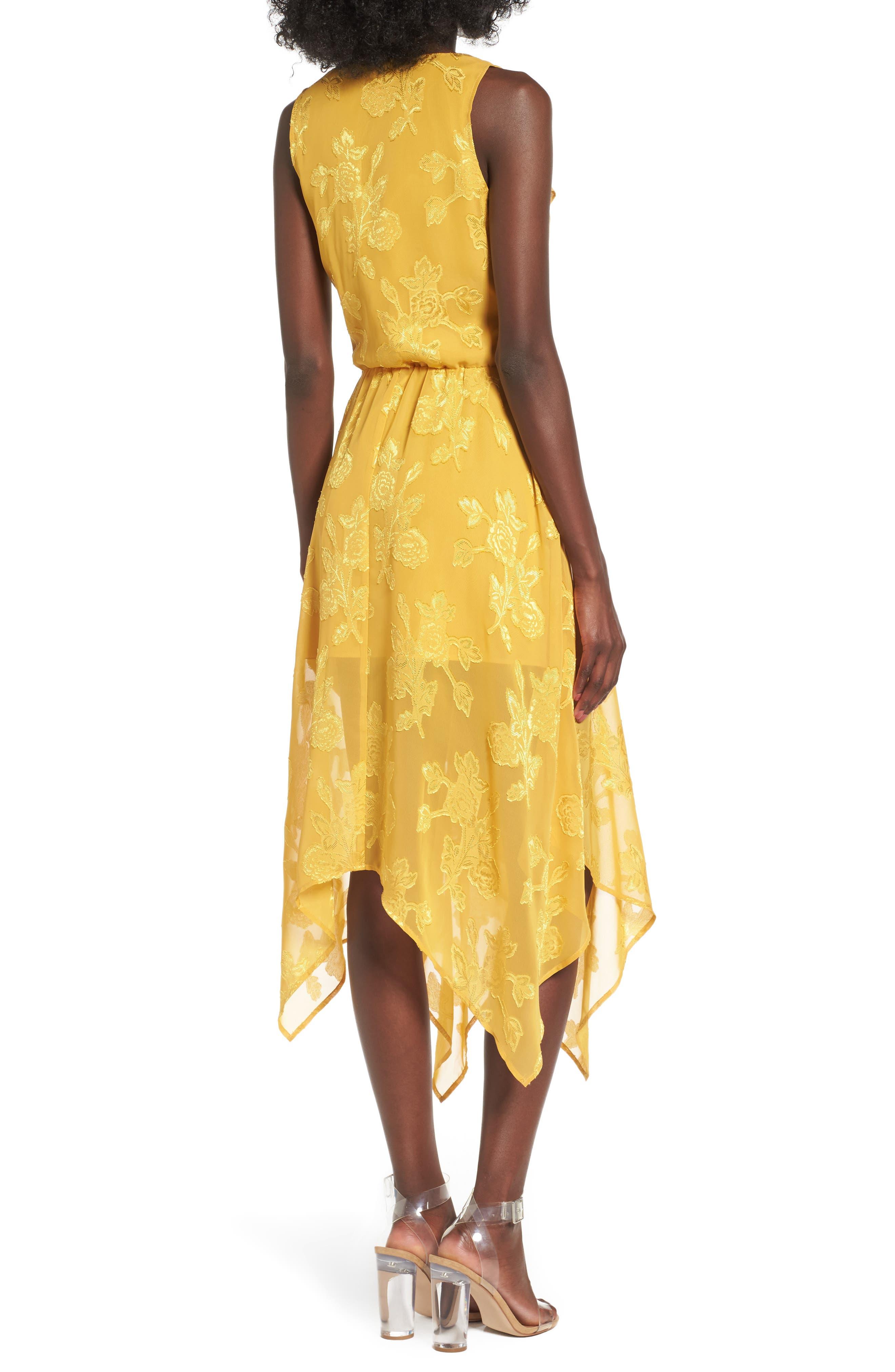 Alternate Image 3  - Leith Handkerchief Hem Faux-Wrap Midi Dress