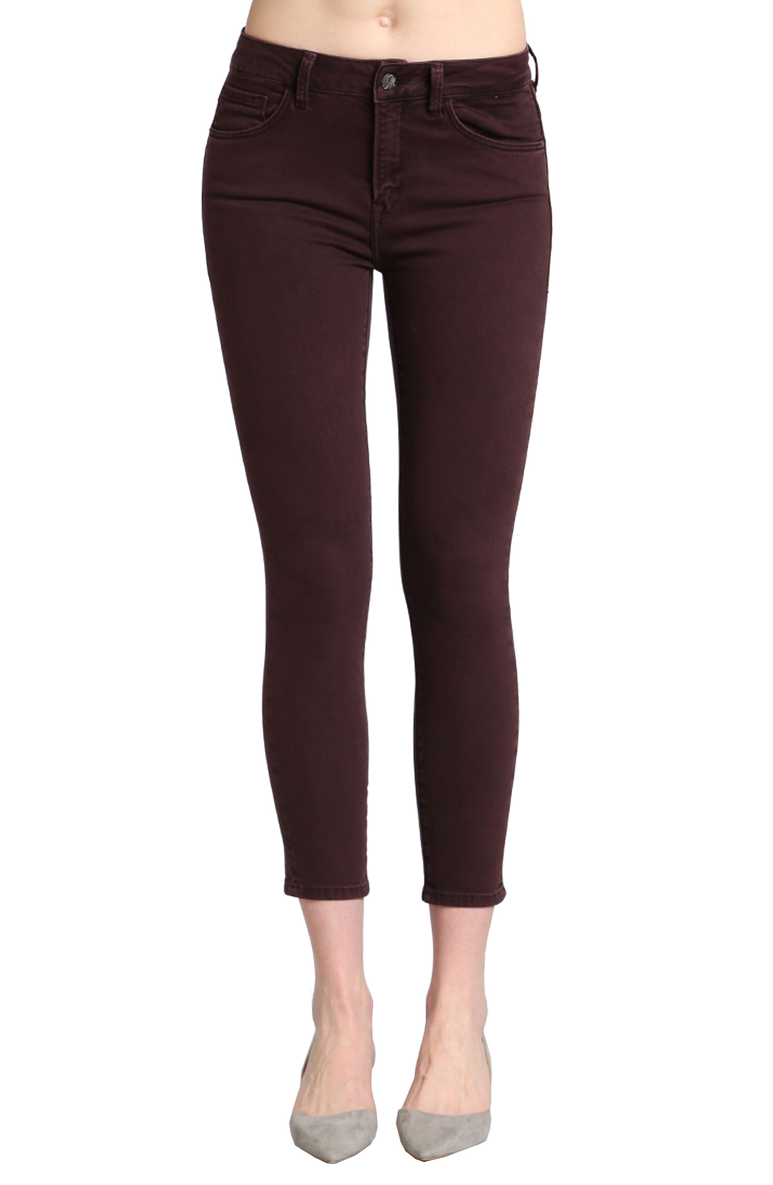 Main Image - Mavi Jeans Tess Skinny Jeans (Wine)