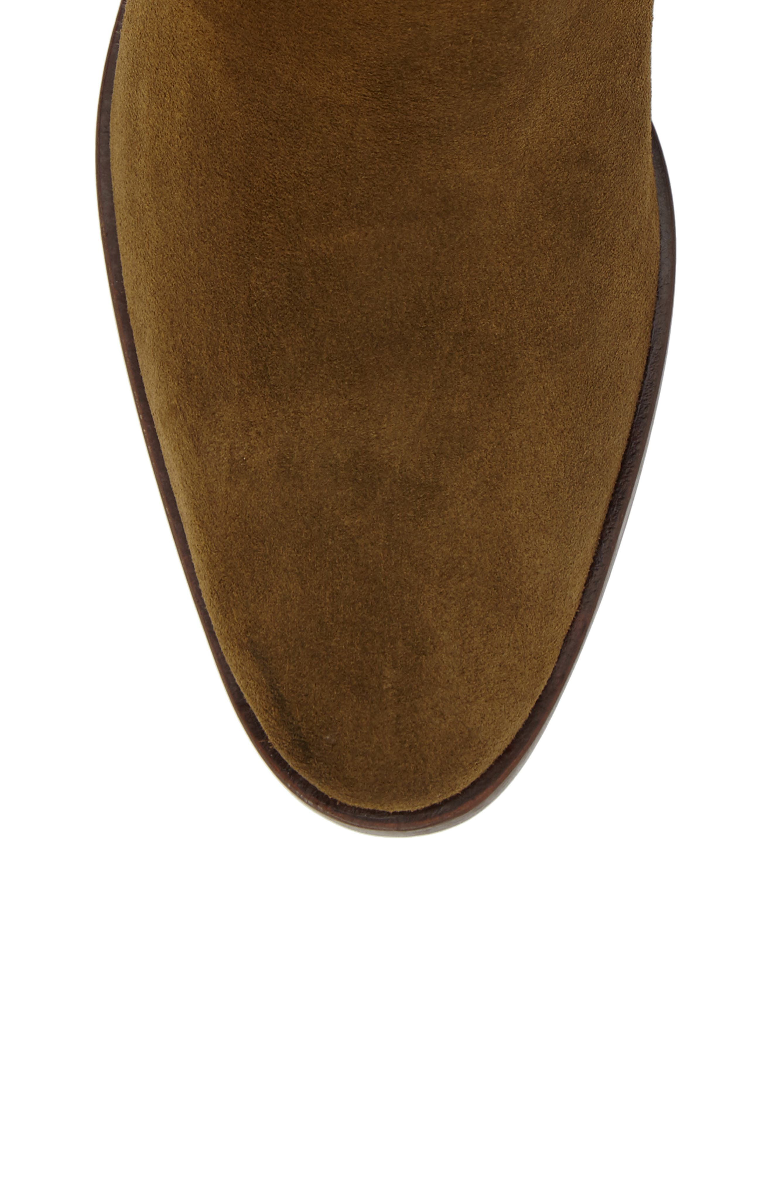 Hunter Bootie,                             Alternate thumbnail 5, color,                             Khaki Suede