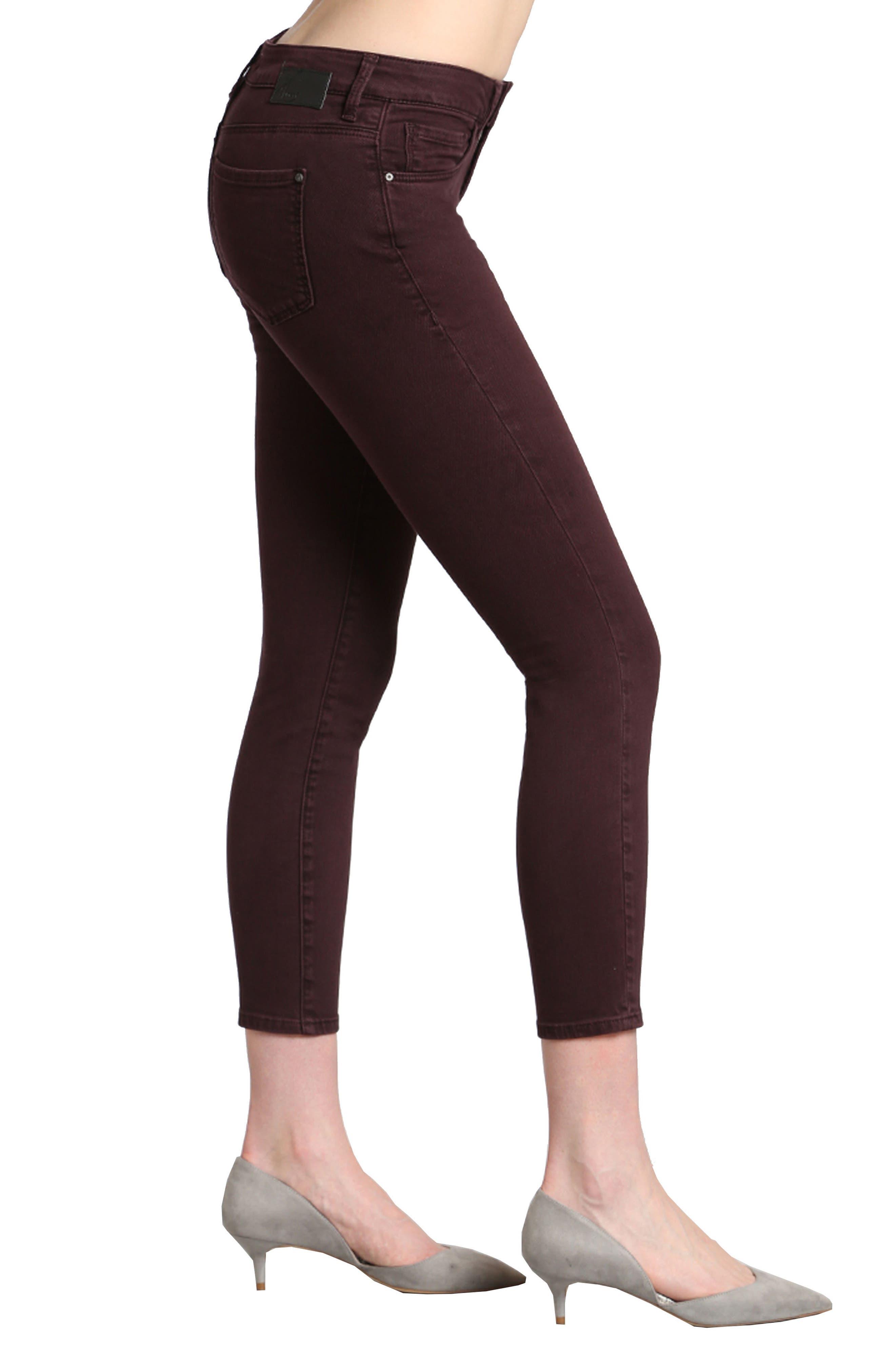 Alternate Image 3  - Mavi Jeans Tess Skinny Jeans (Wine)