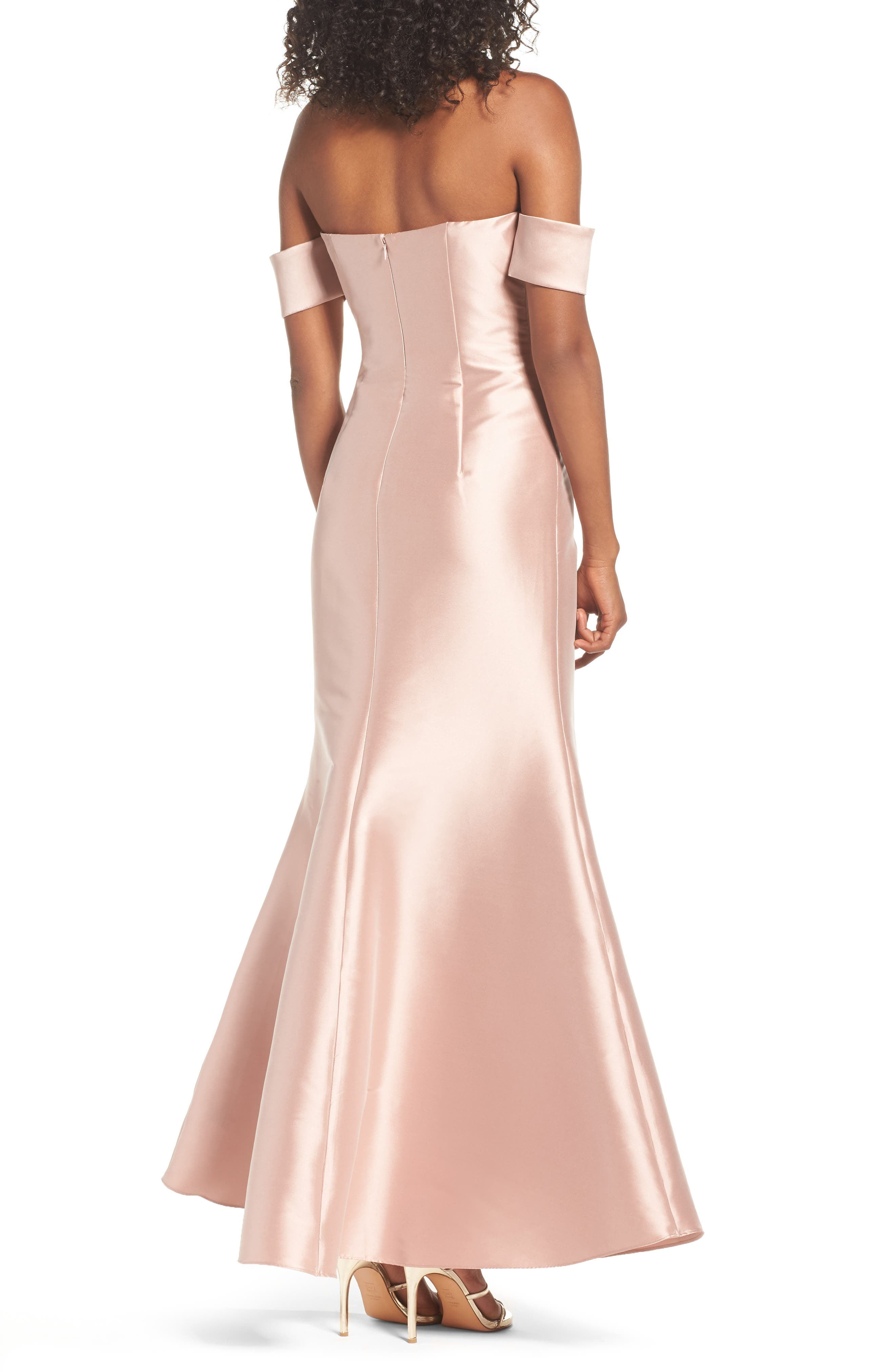 Victoria Mermaid Gown,                             Alternate thumbnail 2, color,                             Blush