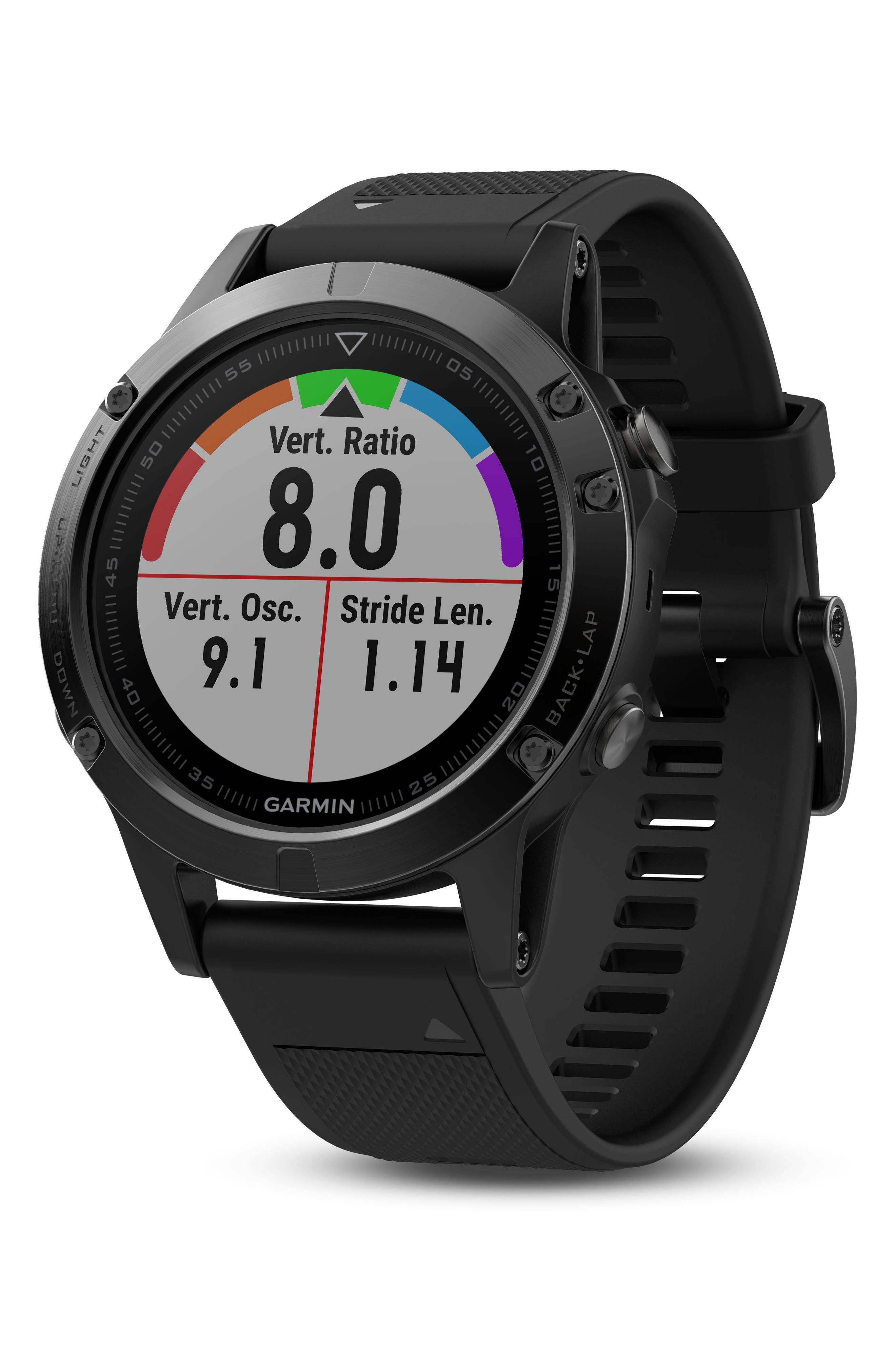 Alternate Image 10  - Garmin Fenix 5 Multisport GPS Smart Tracker Watch, 47mm