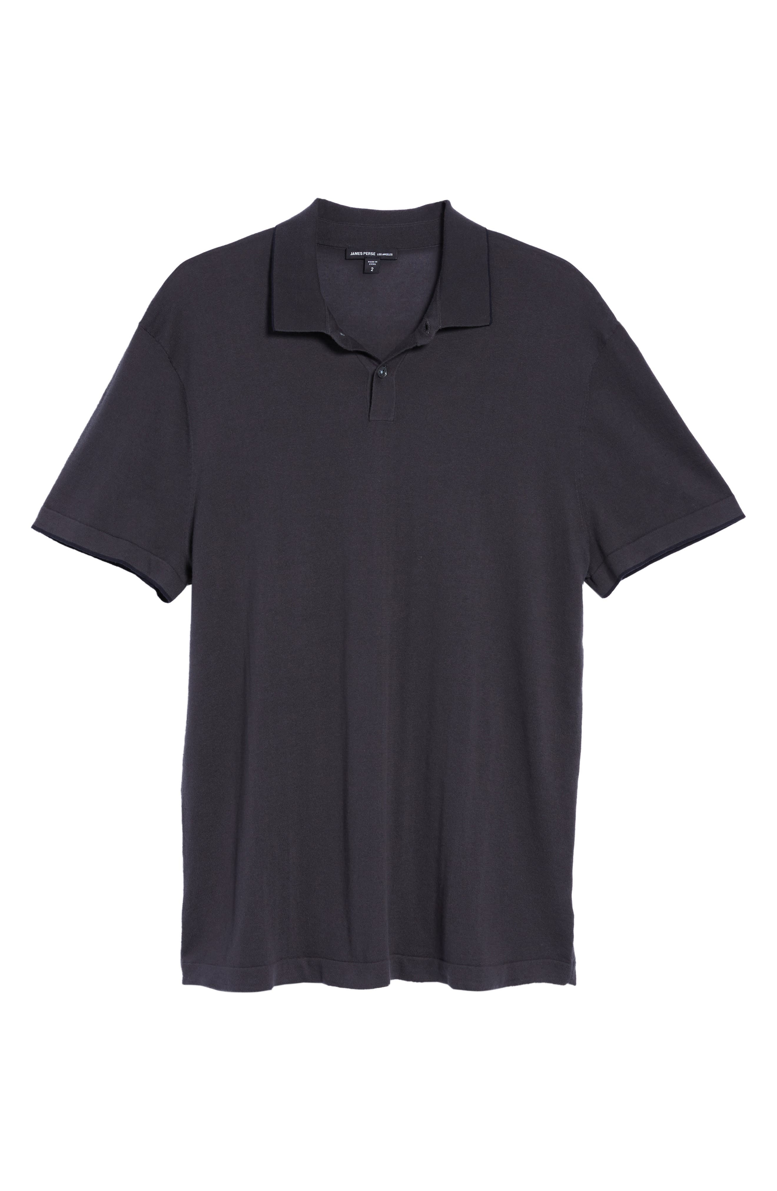 Fine Gauge Tipped Polo,                             Alternate thumbnail 5, color,                             Chimney/ Squid