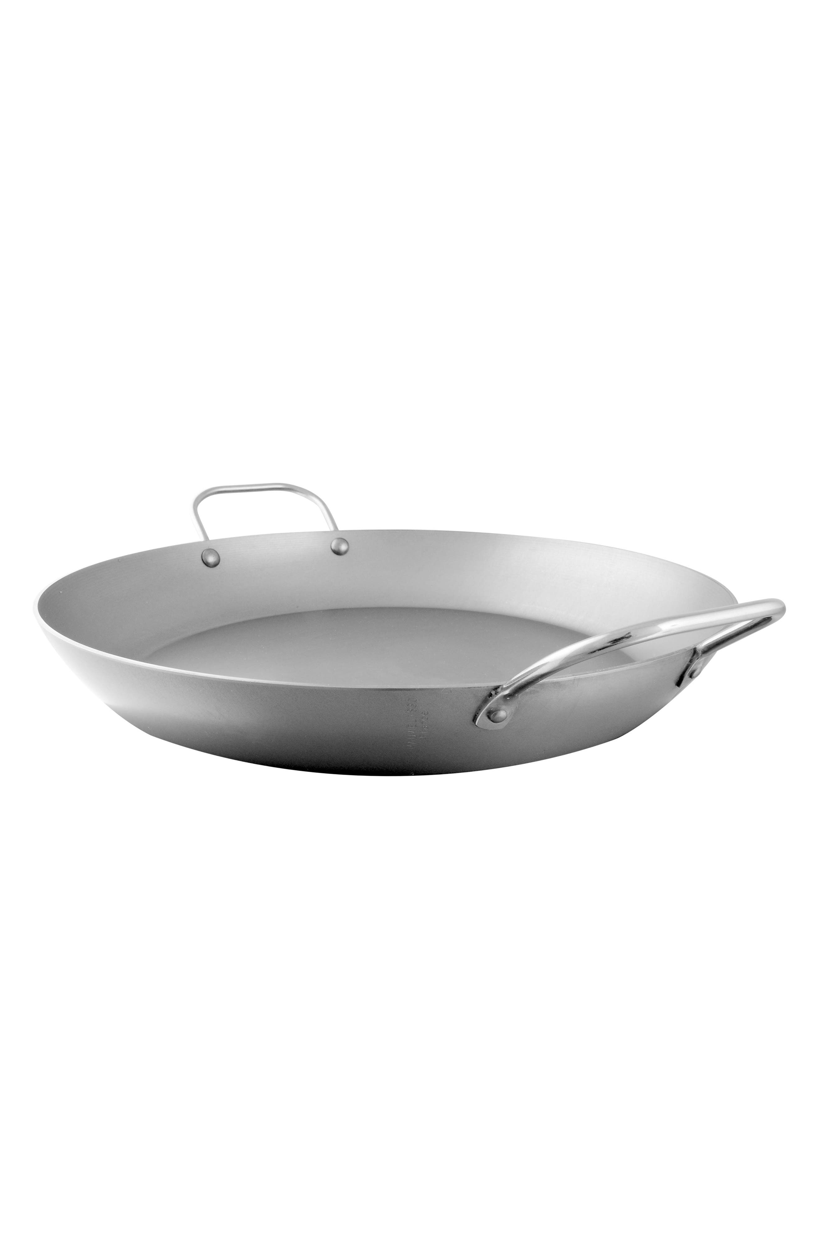 M'steel Carbon Steel Paella Pan,                             Main thumbnail 1, color,                             Steel
