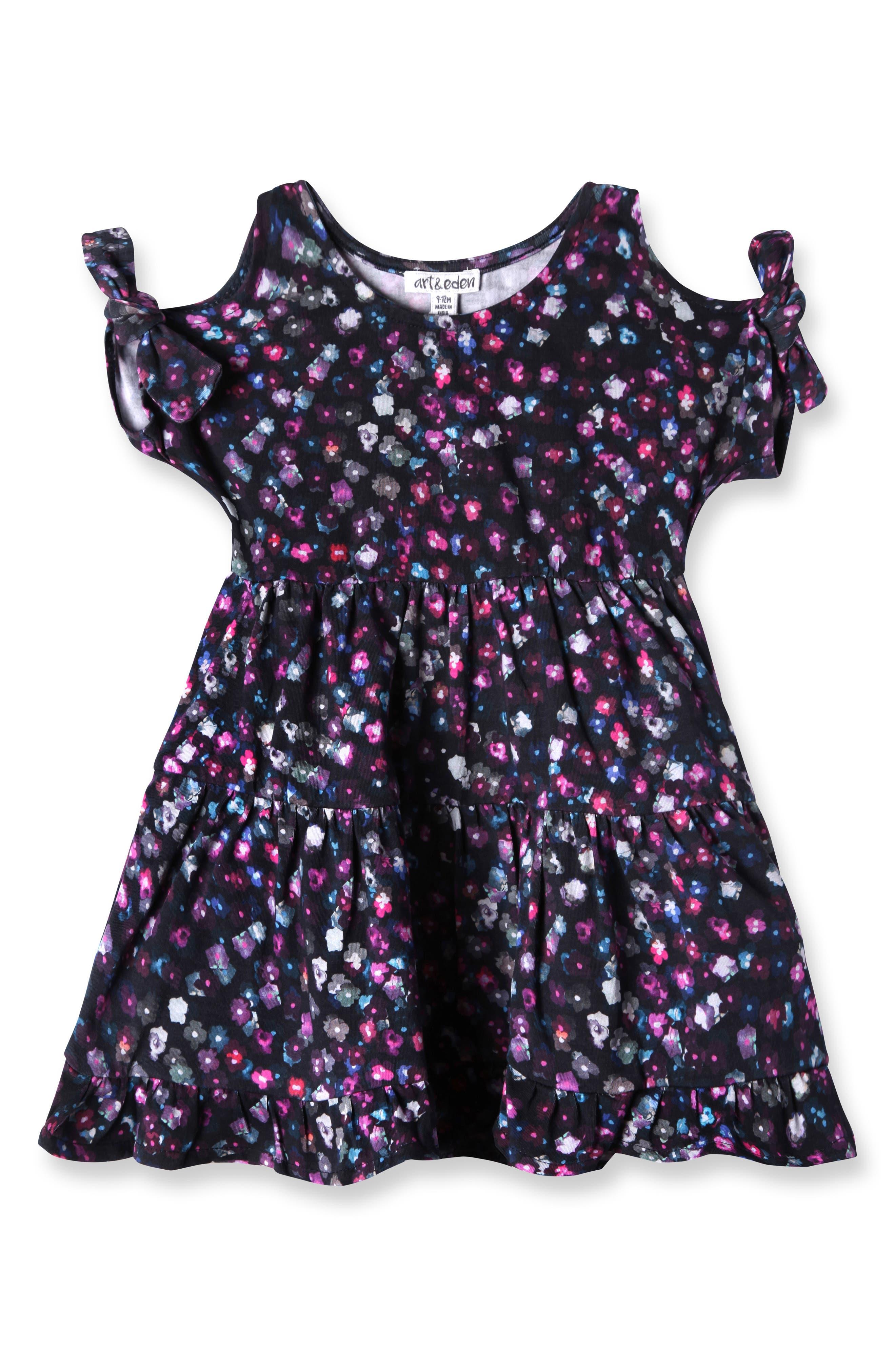 Main Image - Art & Eden Emma Cold Shoulder Dress (Baby Girls)