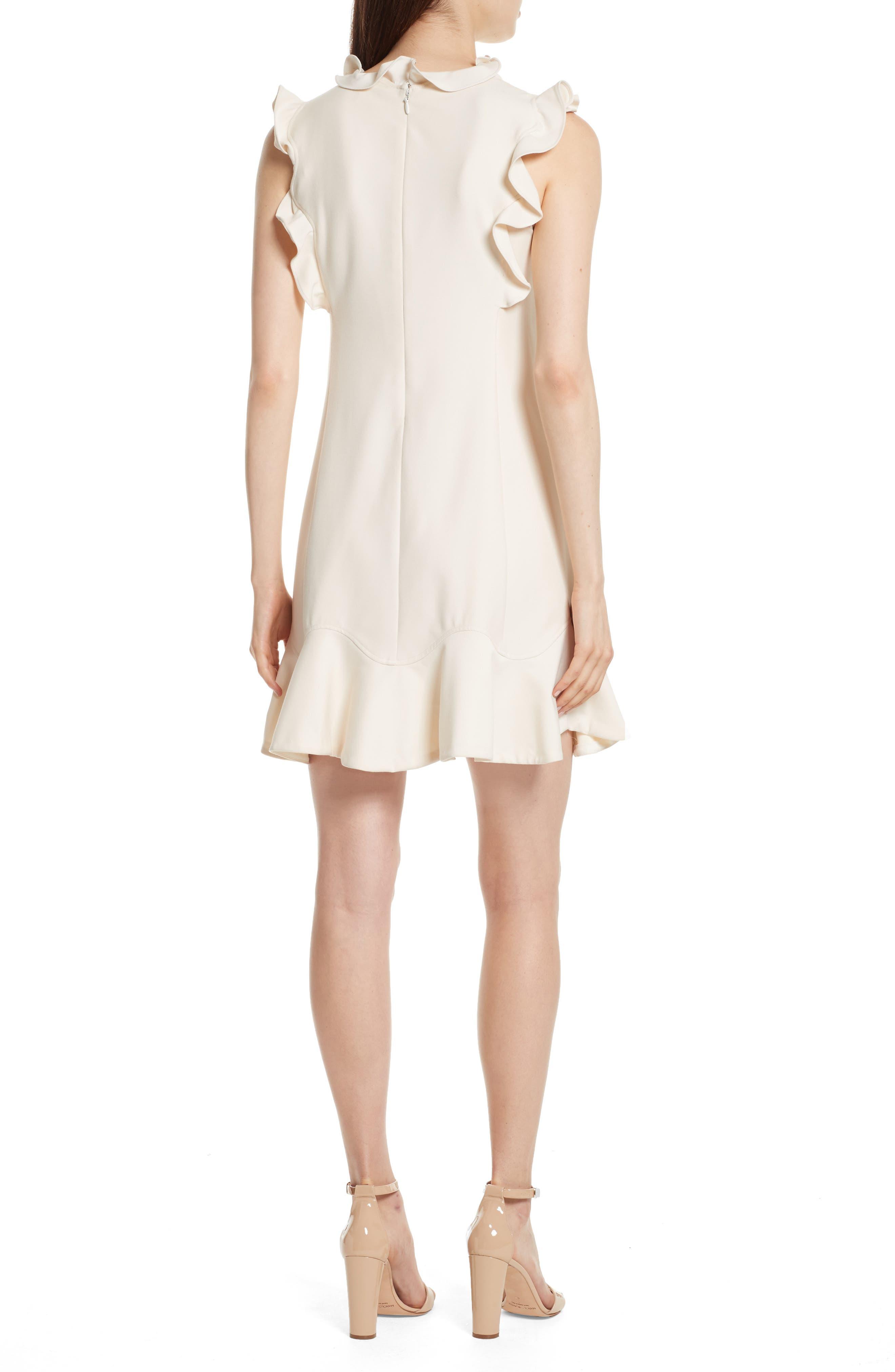 Ruffle Trim Suit Dress,                             Alternate thumbnail 2, color,                             Cream Combo