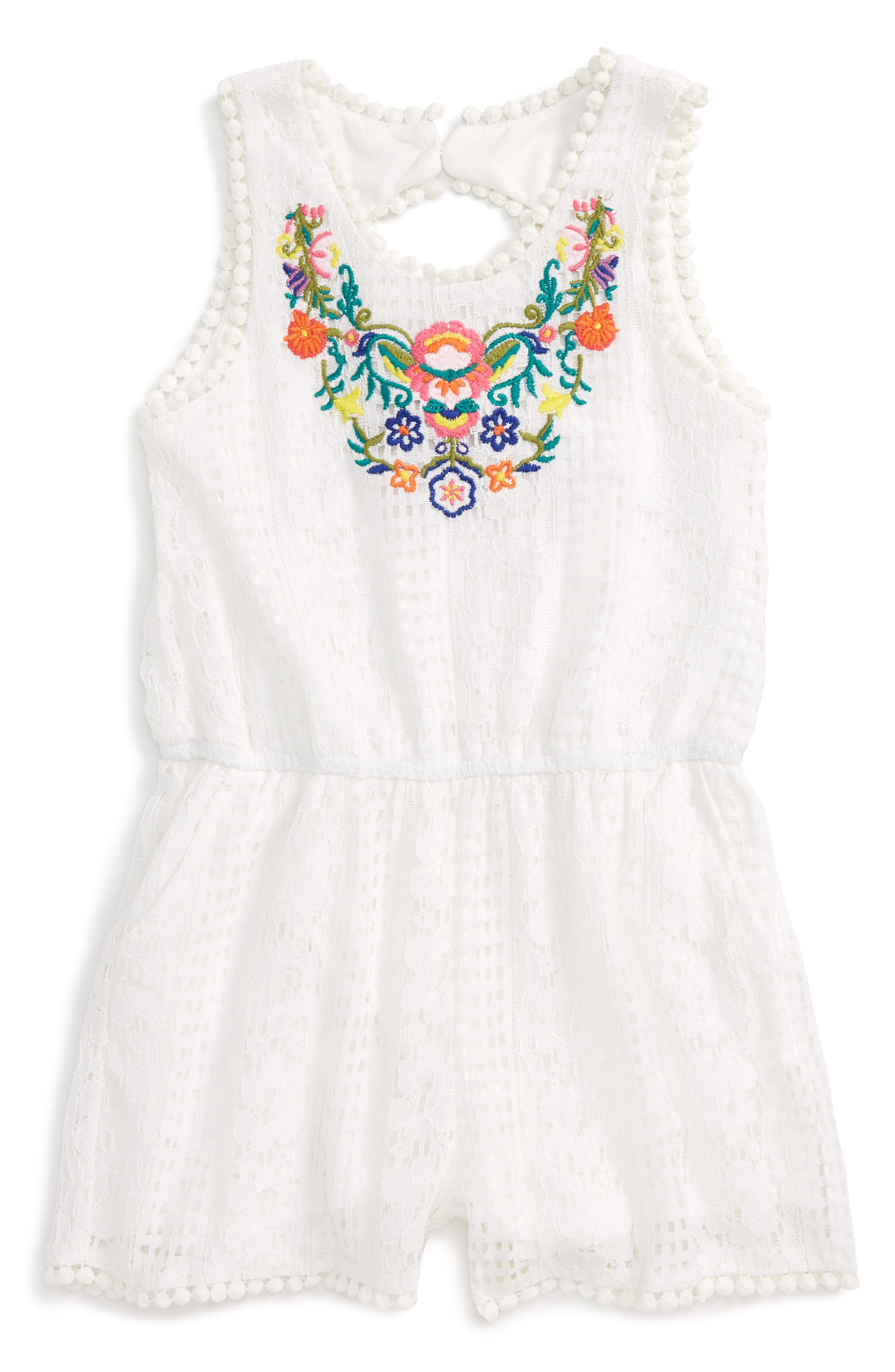 TRULY ME Embroidered Lace Romper