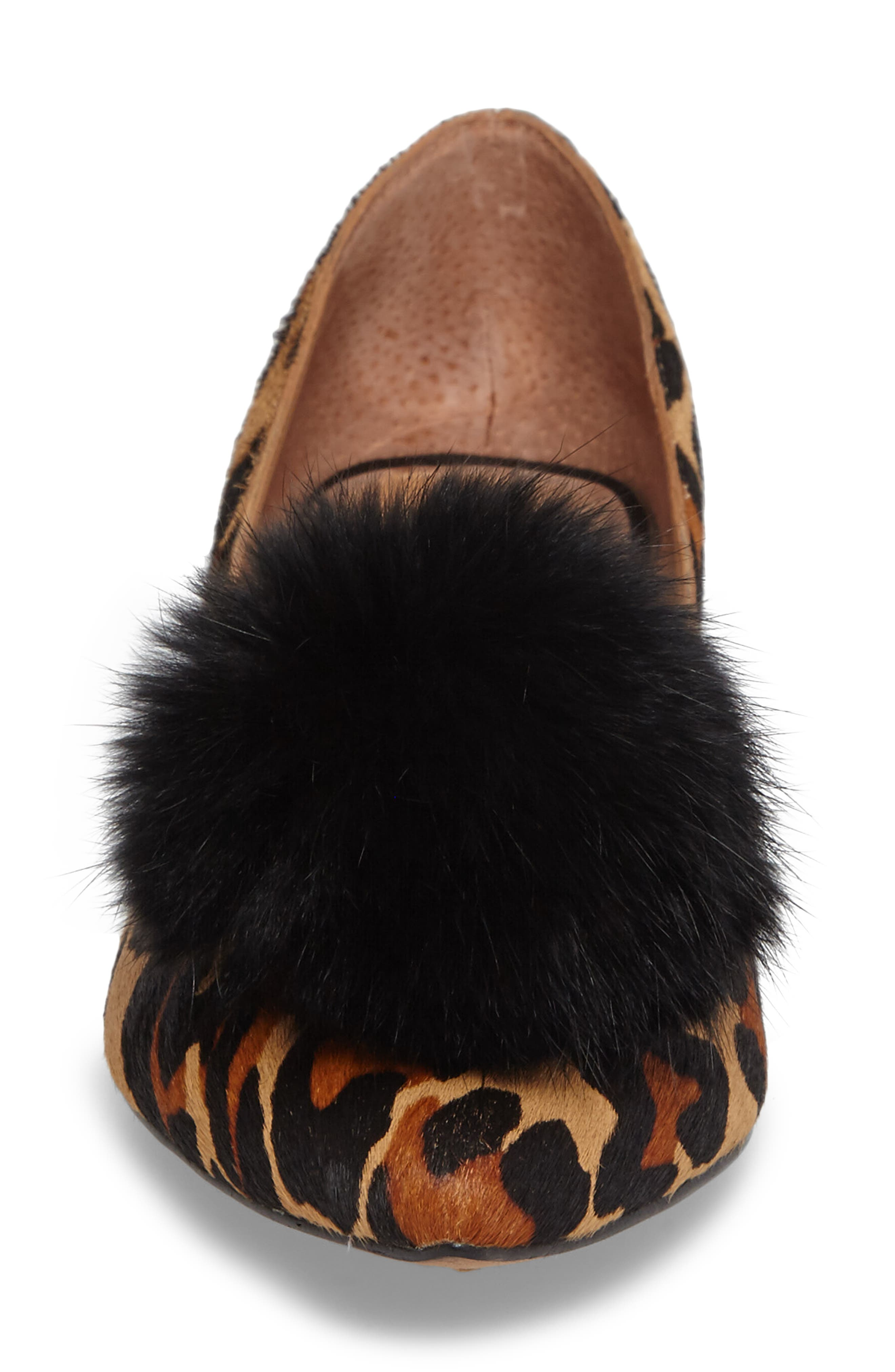 Alternate Image 4  - Linea Paolo Camille II Genuine Calf Hair d'Orsay Pump with Genuine Rabbit Fur Pompom (Women)