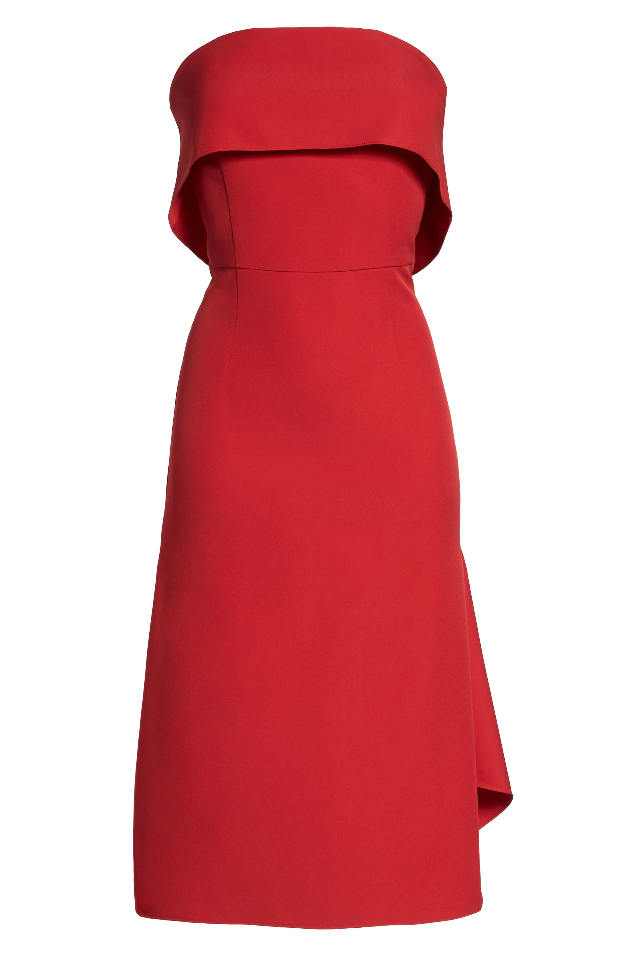 Aurora Rose Crepe Popover Dress,                             Alternate thumbnail 5, color,                             Red Barberry