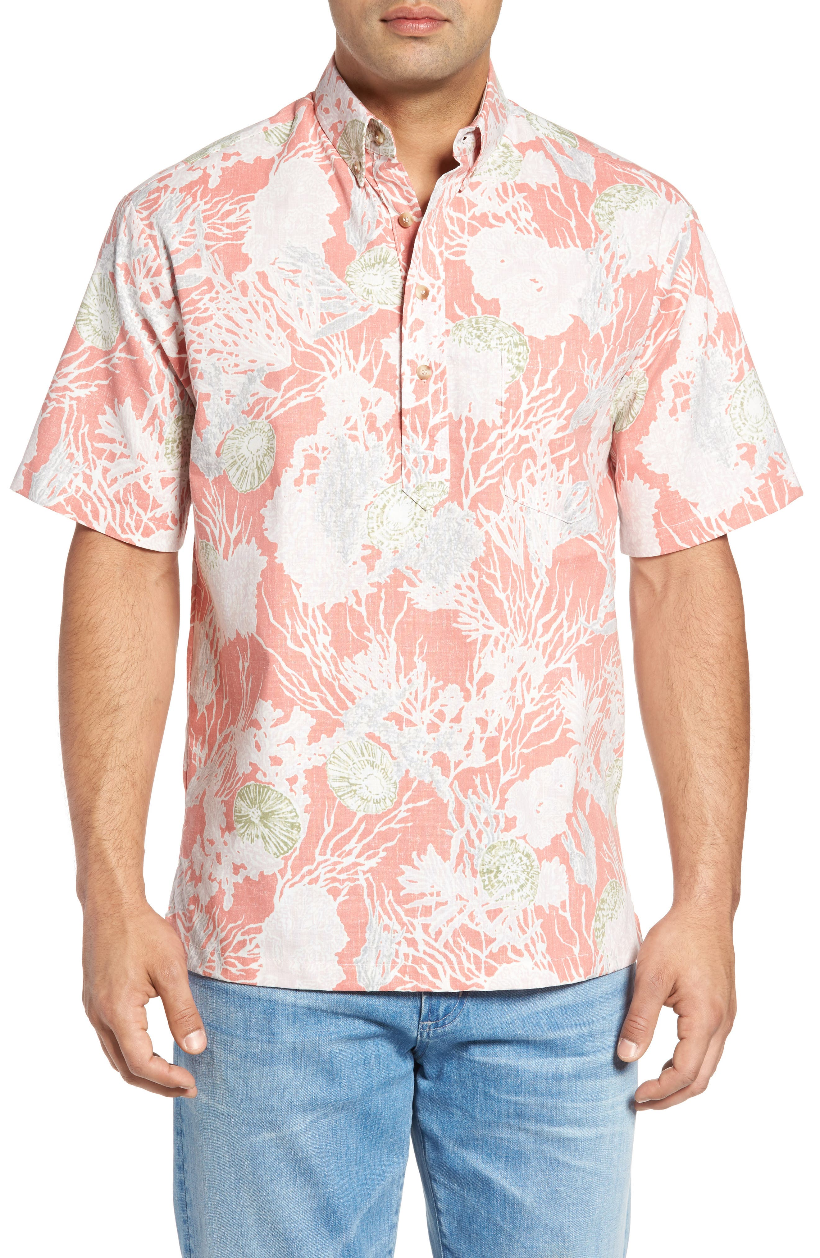 Kahala Opihi Classic Fit Pullover Camp Shirt