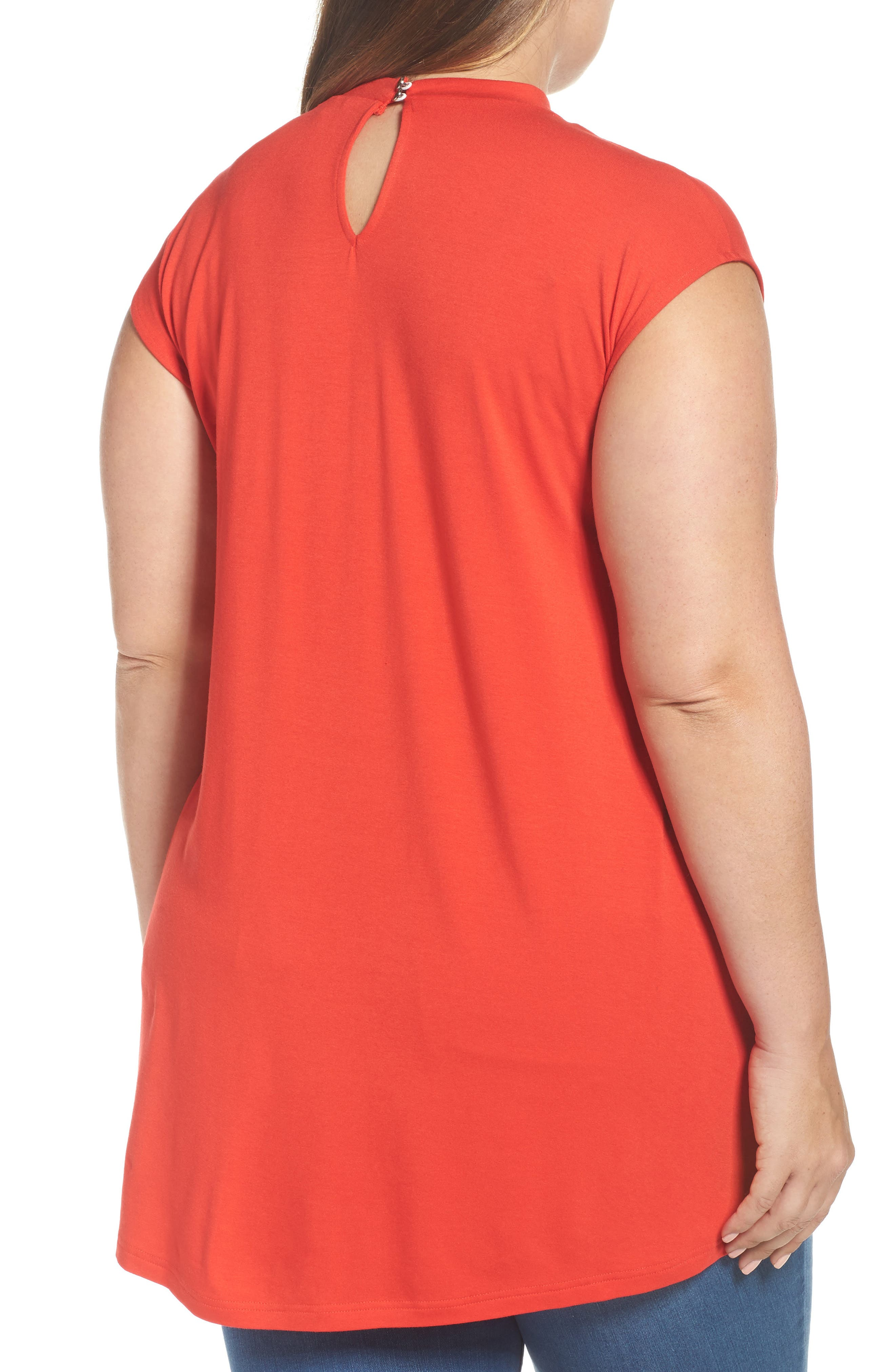 Alternate Image 2  - Vince Camuto Mock Choker High/Low Blouse