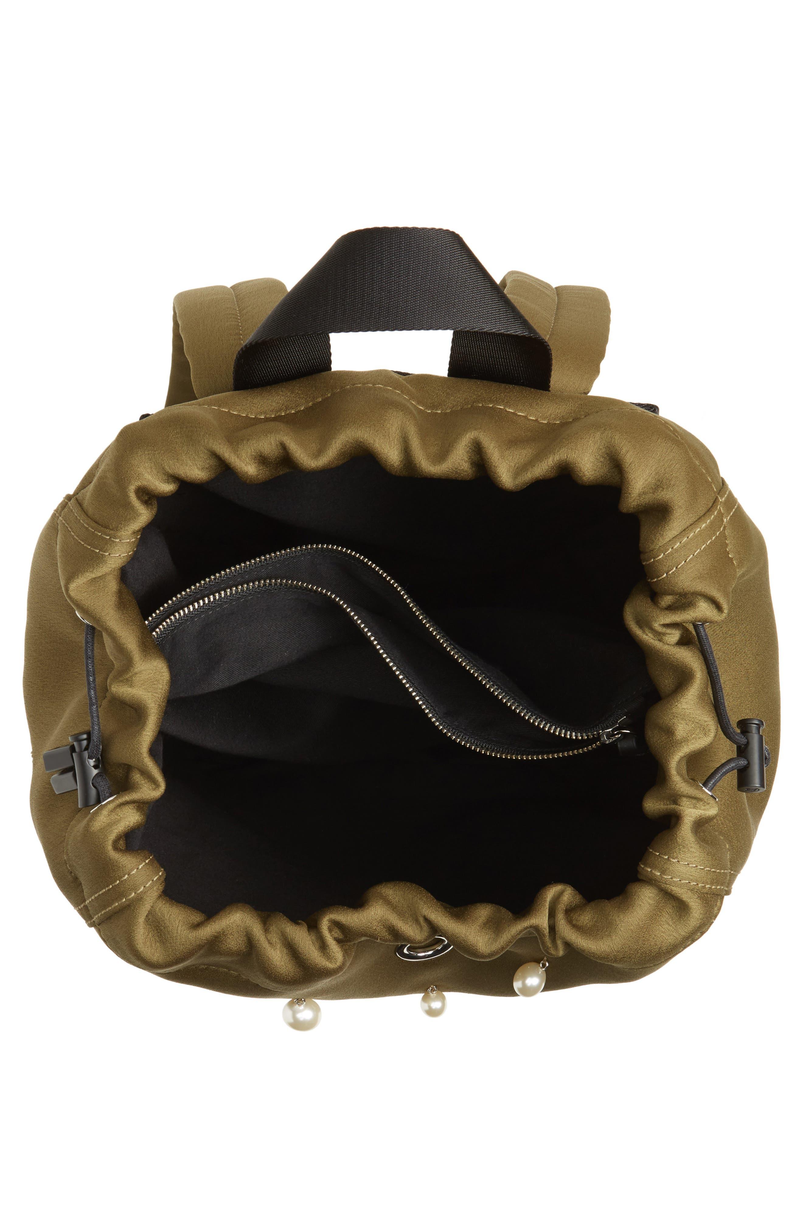Phillip Lim 3.1 Medium Go-Go Embellished Backpack,                             Alternate thumbnail 4, color,                             Moss