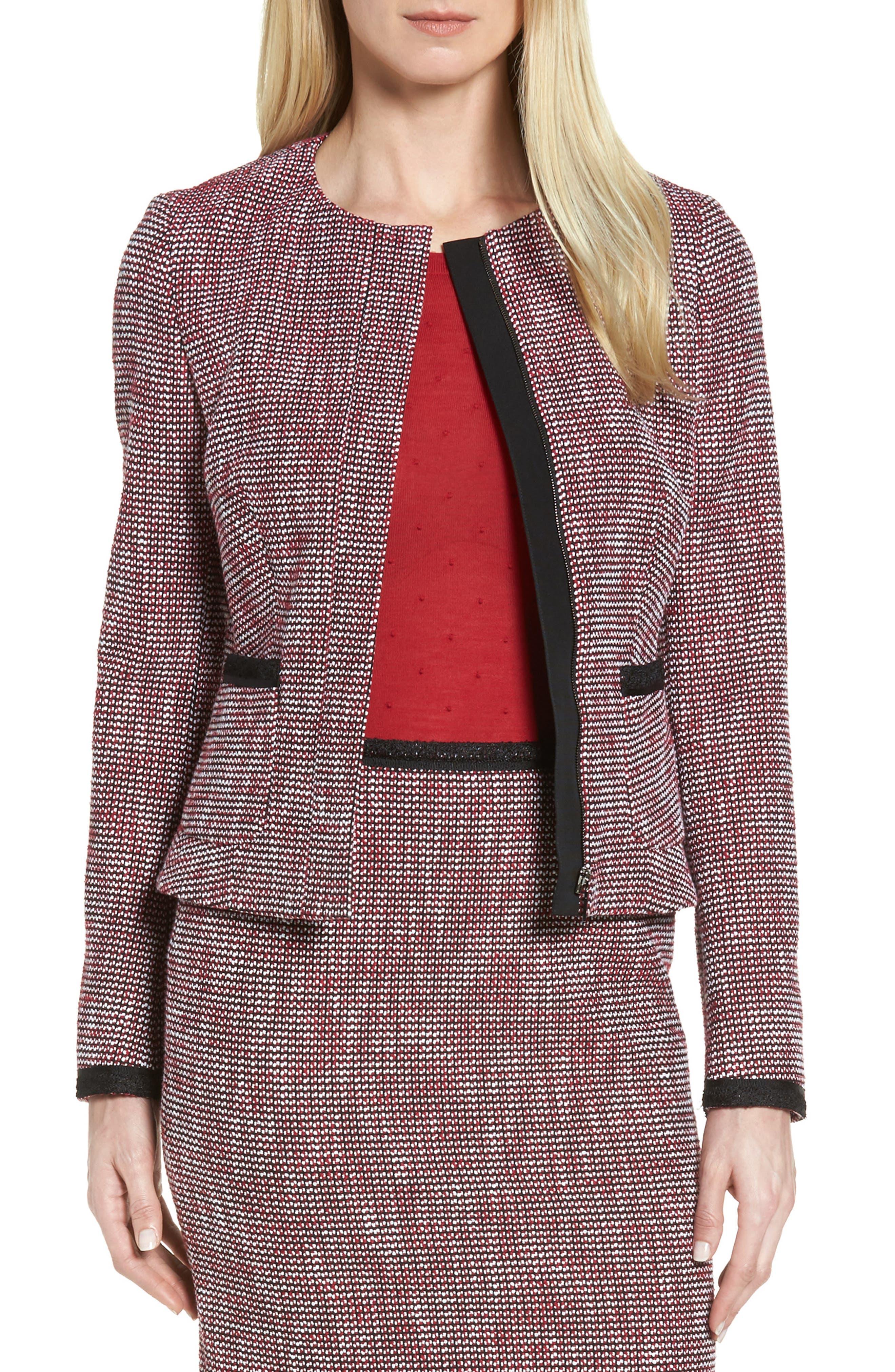 BOSS Kabira Tweed Suit Jacket
