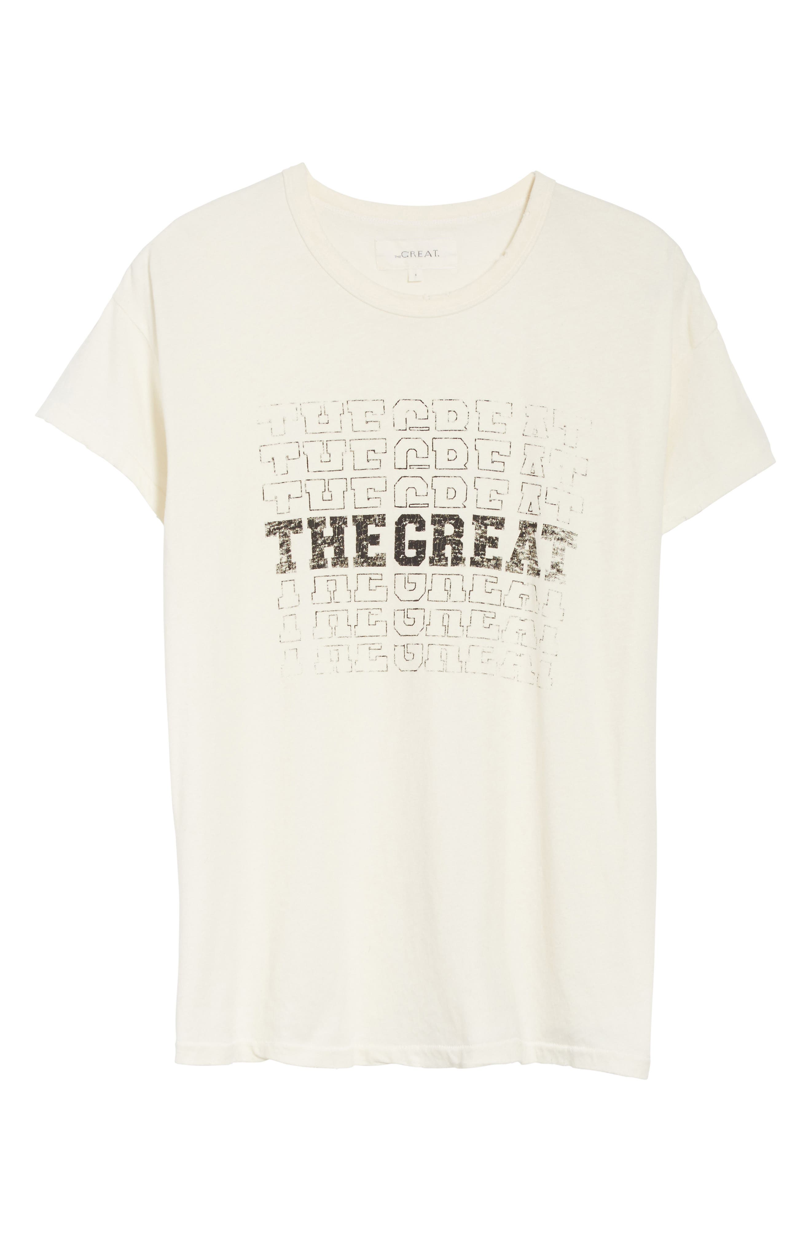The Boxy Graphic Tee,                             Alternate thumbnail 6, color,                             Washed White W/ Black