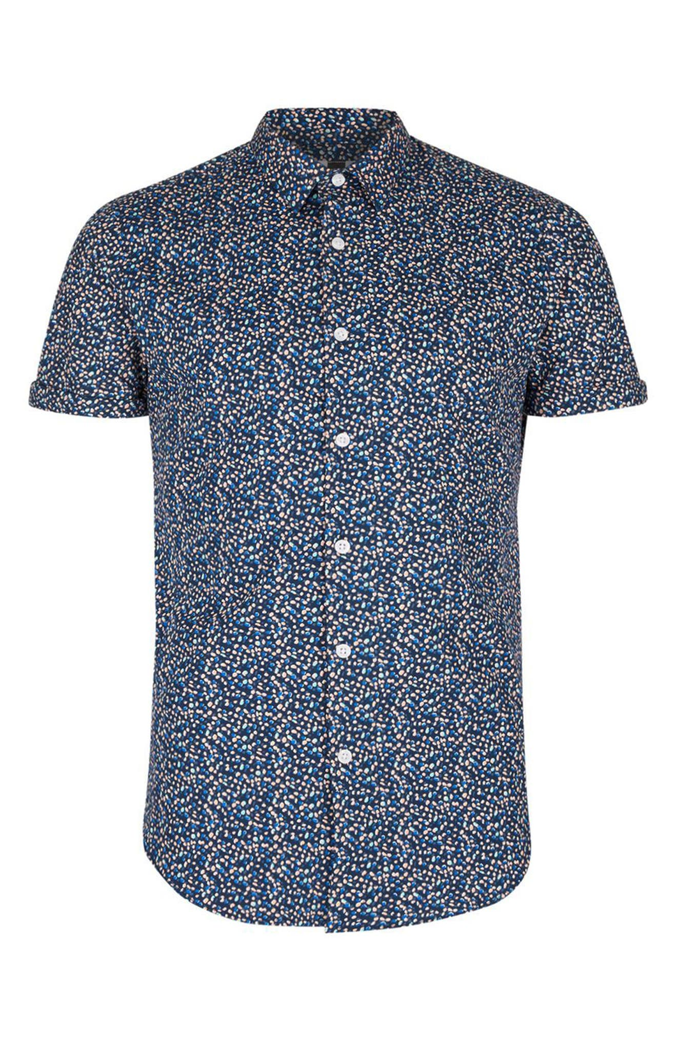 Alternate Image 5  - Topman Blotch Print Shirt