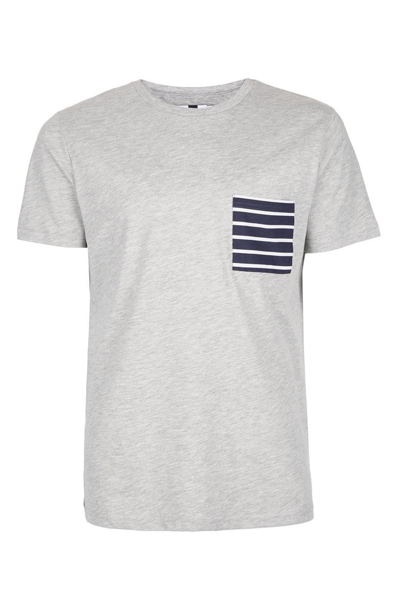 Alternate Image 5  - Topman Stripe Pocket T-Shirt